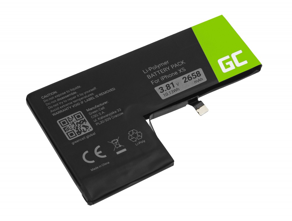 Battery Green Cell A2097 for Apple iPhone XS + tools