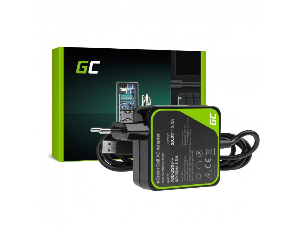 Green Cell AD124P Adaptér Nabíječka Lenovo Yoga 3 i Lenovo Yoga 3 PRO 20V 40W