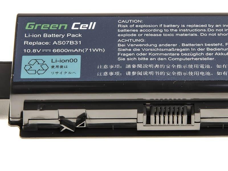 Green Cell Baterie pro Acer Aspire 5520 AS07B31 AS07B32 / 11,1V 6600mAh