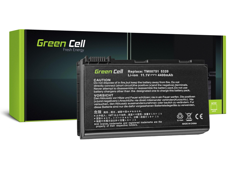 Green Cell Battery for Acer TravelMate 5220 5520 5720 7520 7720 / 11,1V 4400mAh