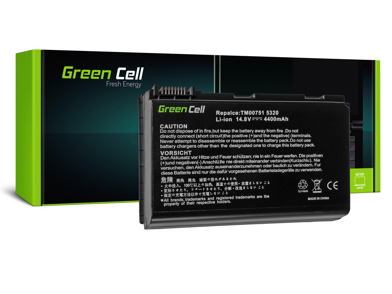 Green Cell AC09 Baterie Acer TravelMate 5220 5520 5720 7520 7720 Extensa 5100 5220 5620 5630 4400mAh Li-ion - neoriginální