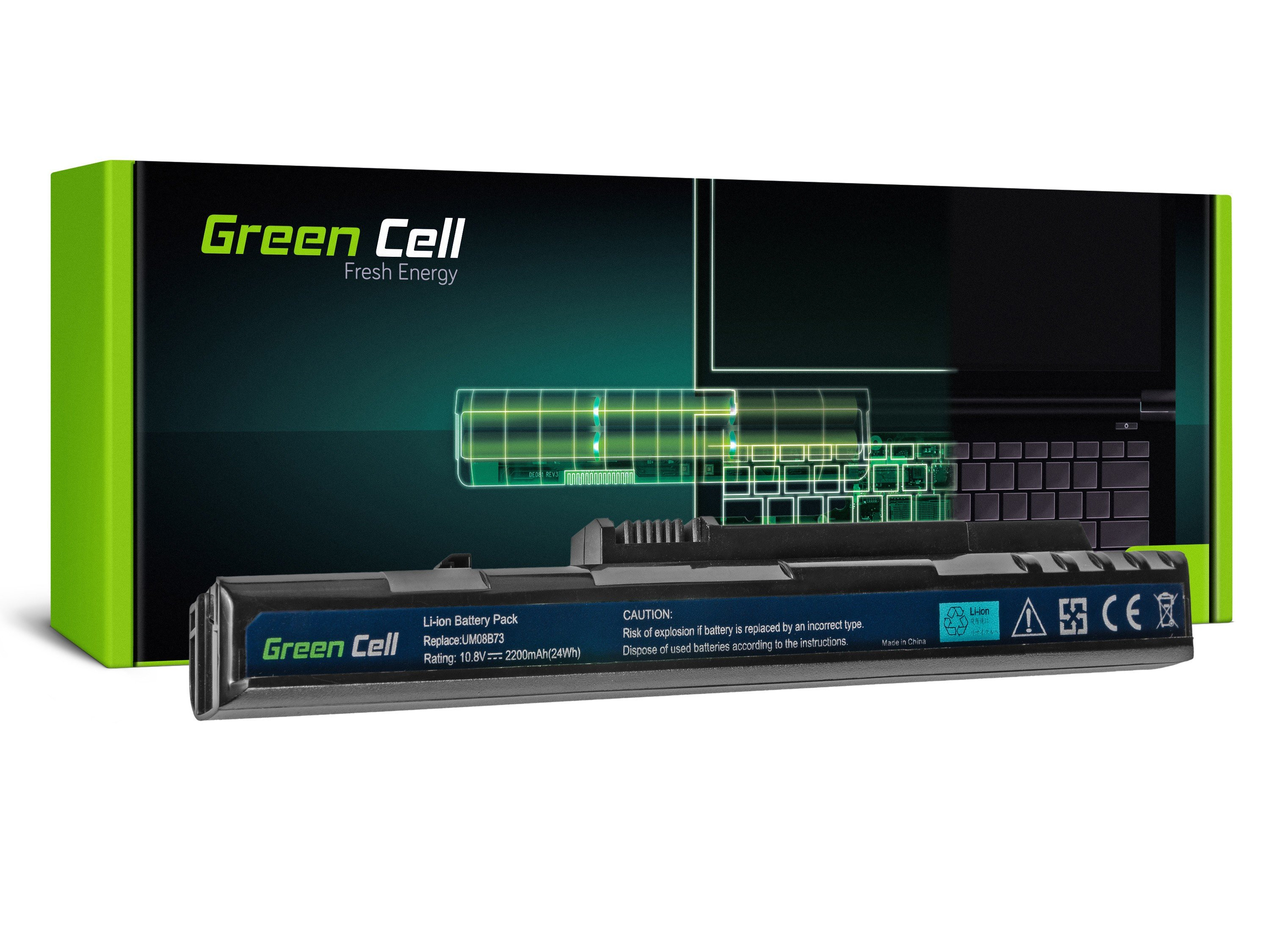 Green Cell Baterie pro Acer Aspire One A110 A150 D150 D250 ZG5 / 11,1V 2200mAh