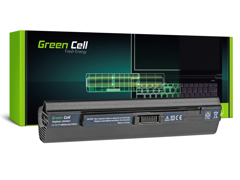 Green Cell Baterie pro Acer Aspire One 531 531H 751 751H ZA3 ZG8 / 11,1V 6600mAh