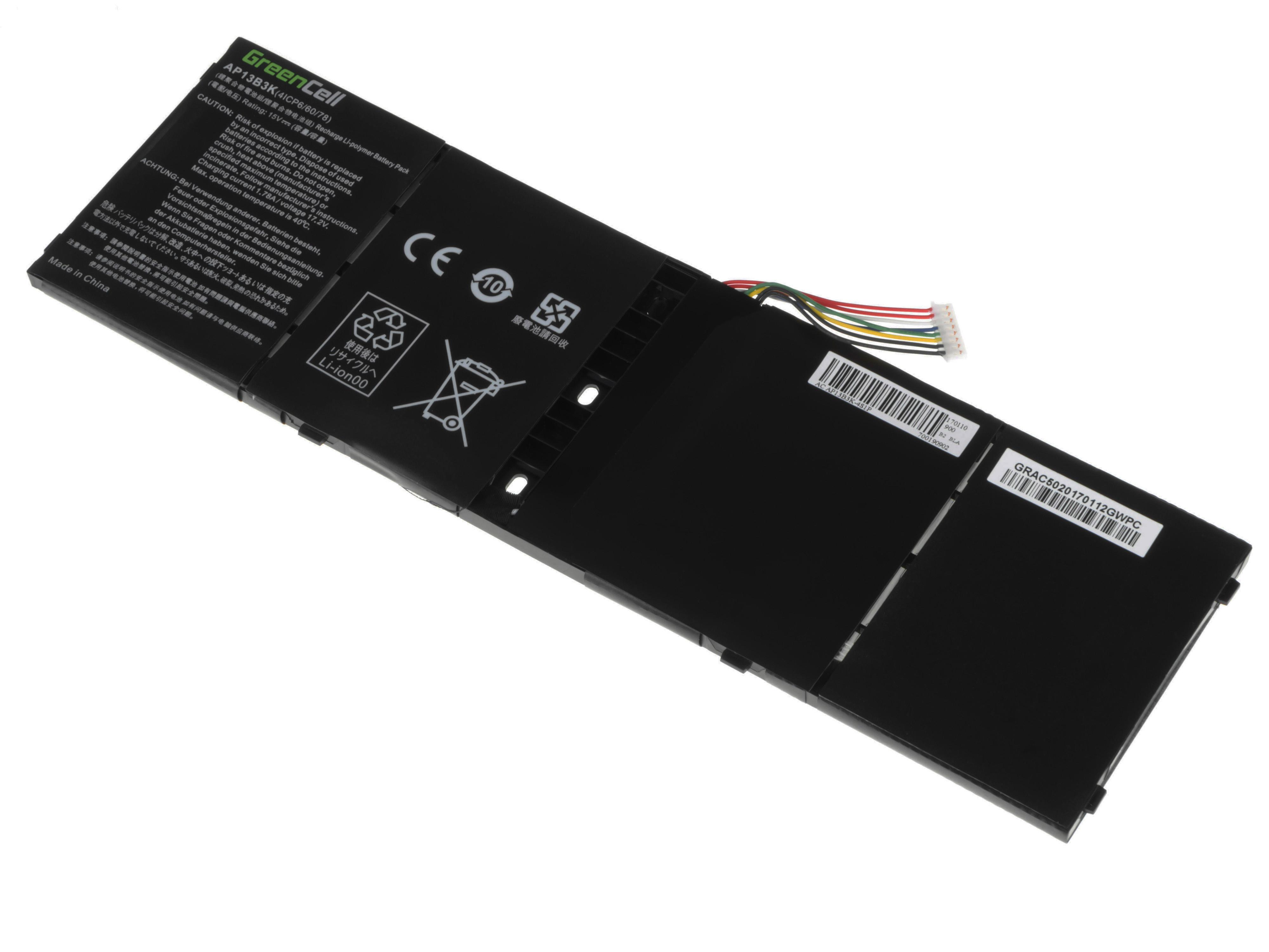 Green Cell AC48 Baterie Acer Aspire V5-552/552P/572/573/573G/V7-581/R7-571/AP13B3K/AL13B3K 3400mAh Li-Pol – neoriginální