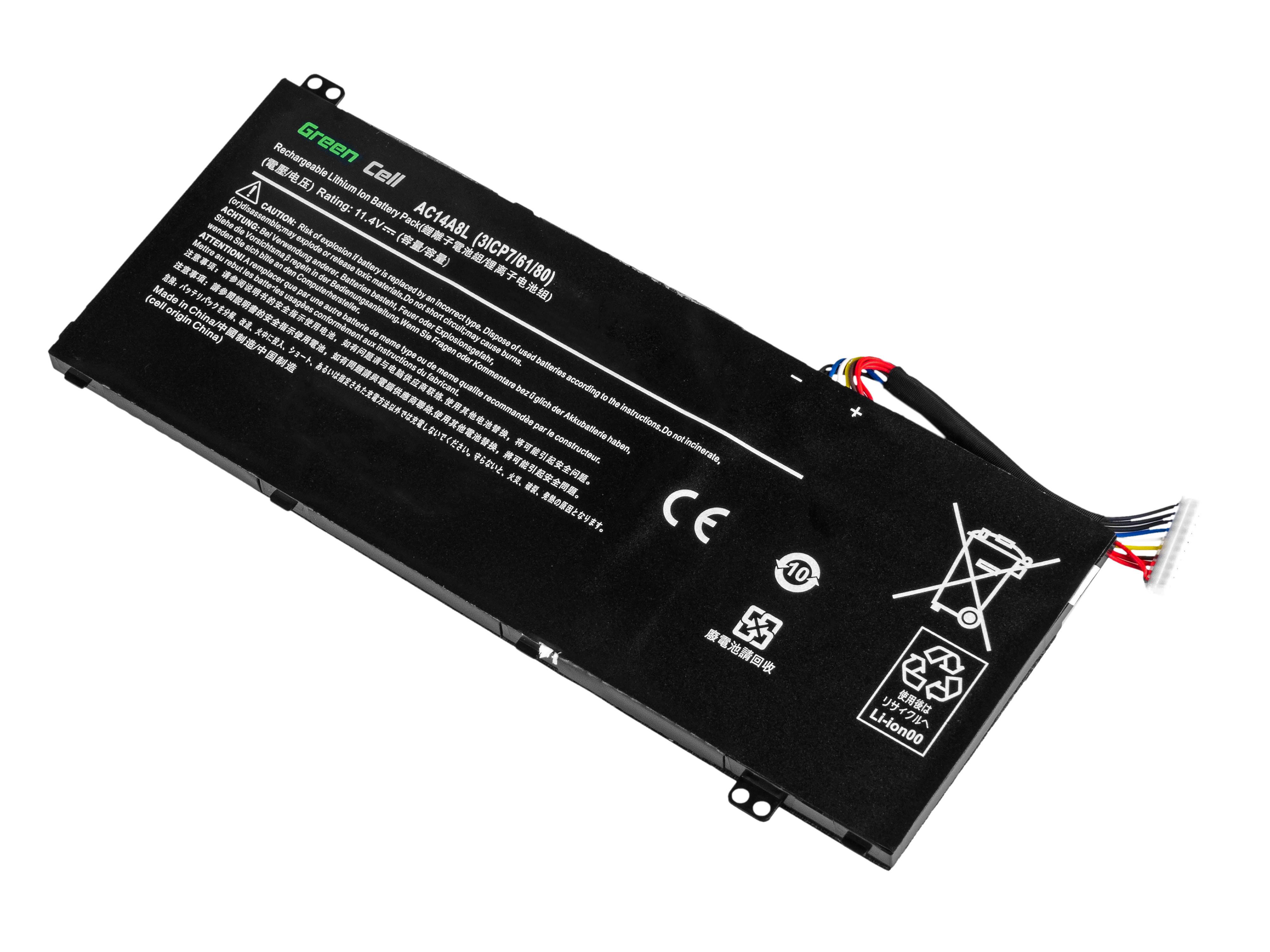 Green Cell Baterie pro Acer Aspire Nitro V15 VN7-571G VN7-572G VN7-591G VN7-592G / 11,4V 4605mAh