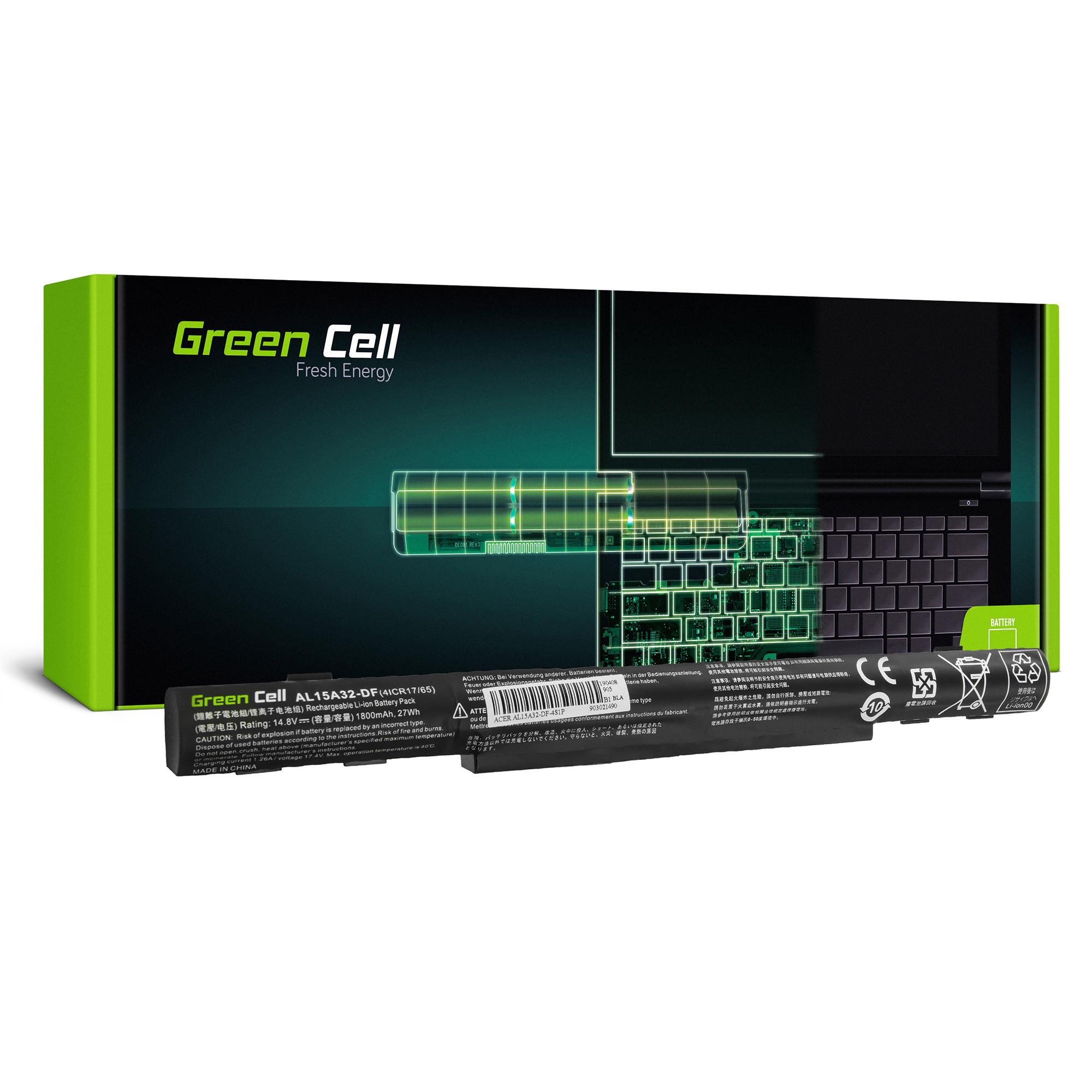 Green Cell AC68 Baterie Acer AL15A32 Acer Aspire E5-573 E5-573G E5-573TG V3-574 V3-574G TravelMate P277 1800mAh Li-ion - neoriginální