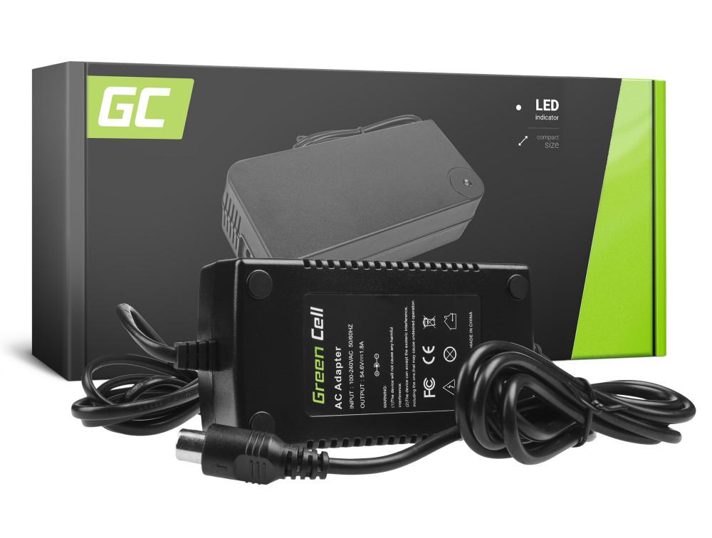 Green Cell akku töltő 54.6V 1.8A (RCA) Ebike 48V