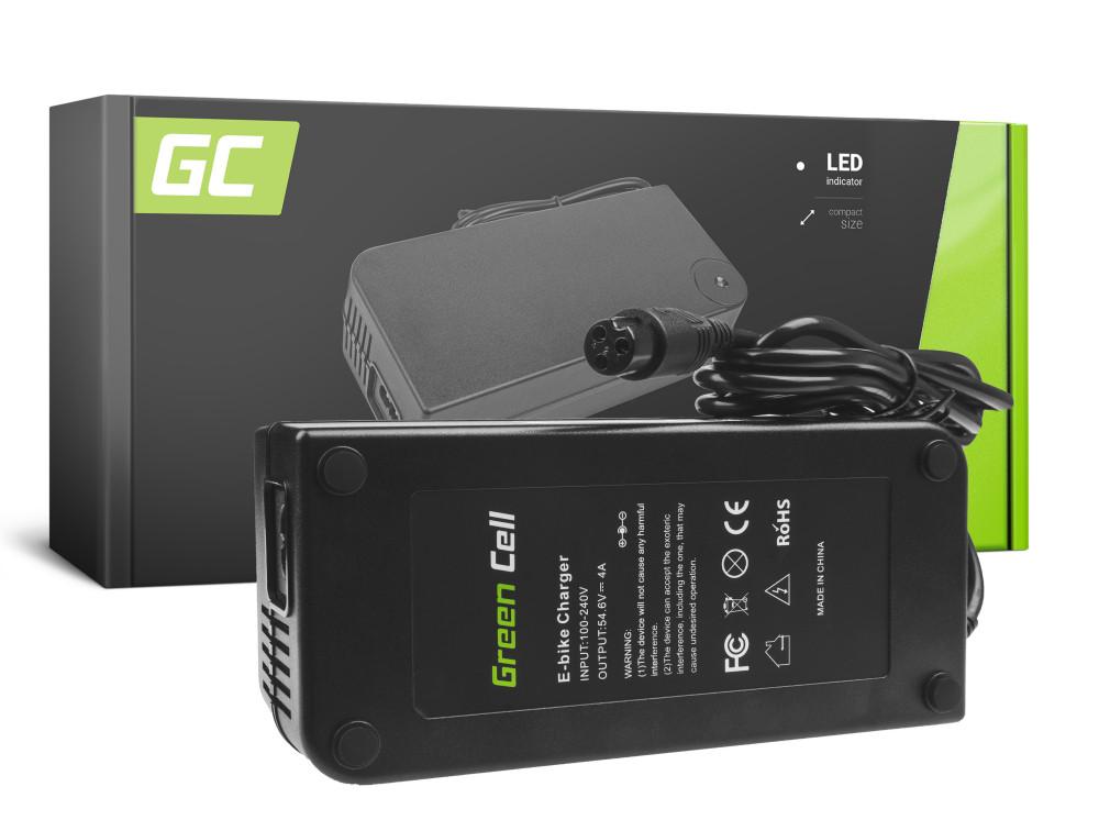 Green Cell akku töltő 54.6V 4A (3 PIN) Ebike 48V