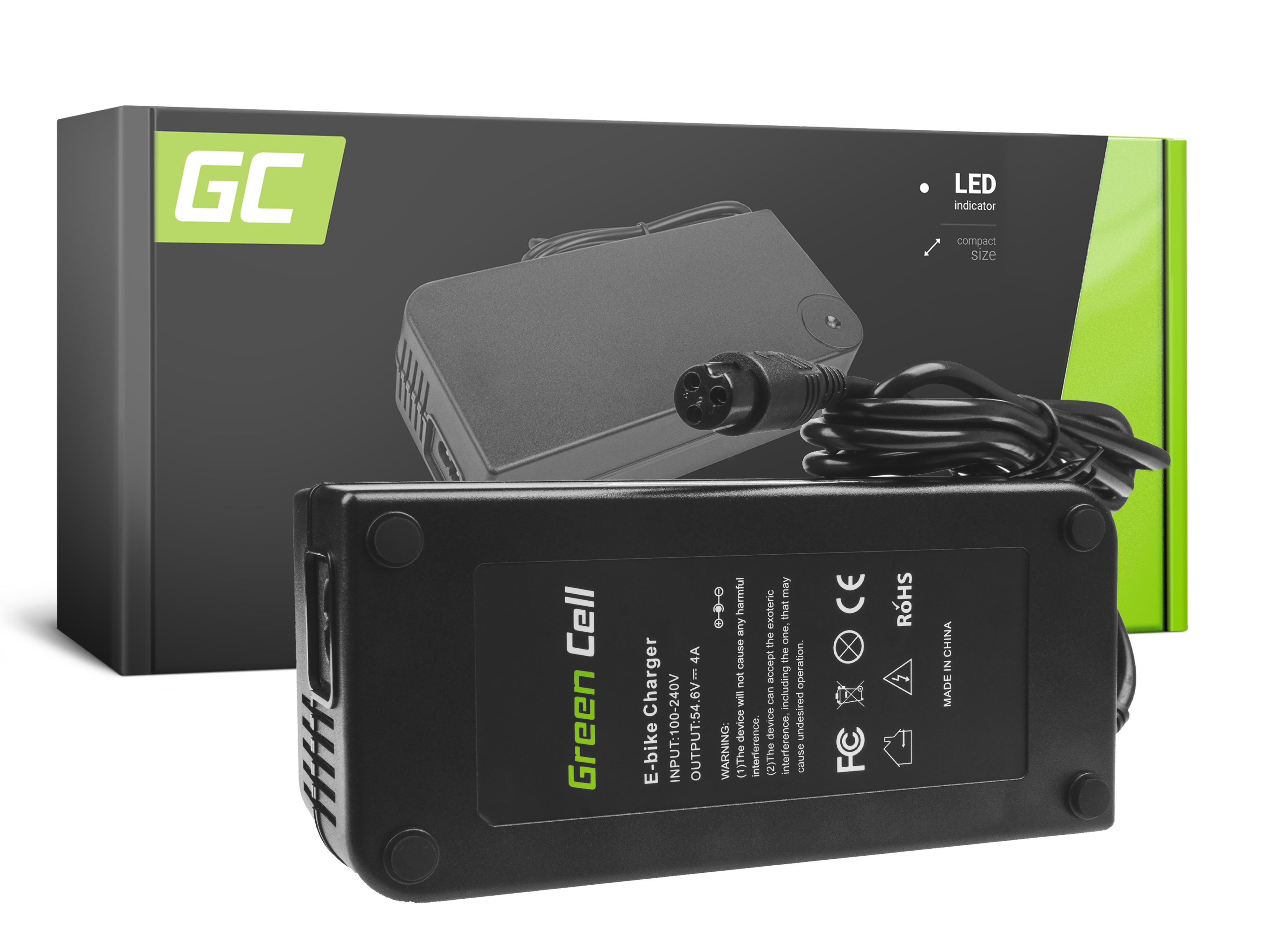 Green Cell ACEBIKE11 Adaptér 54.6V 4A (3 pin) pro Baterie - elektrokola EBIKE 48V