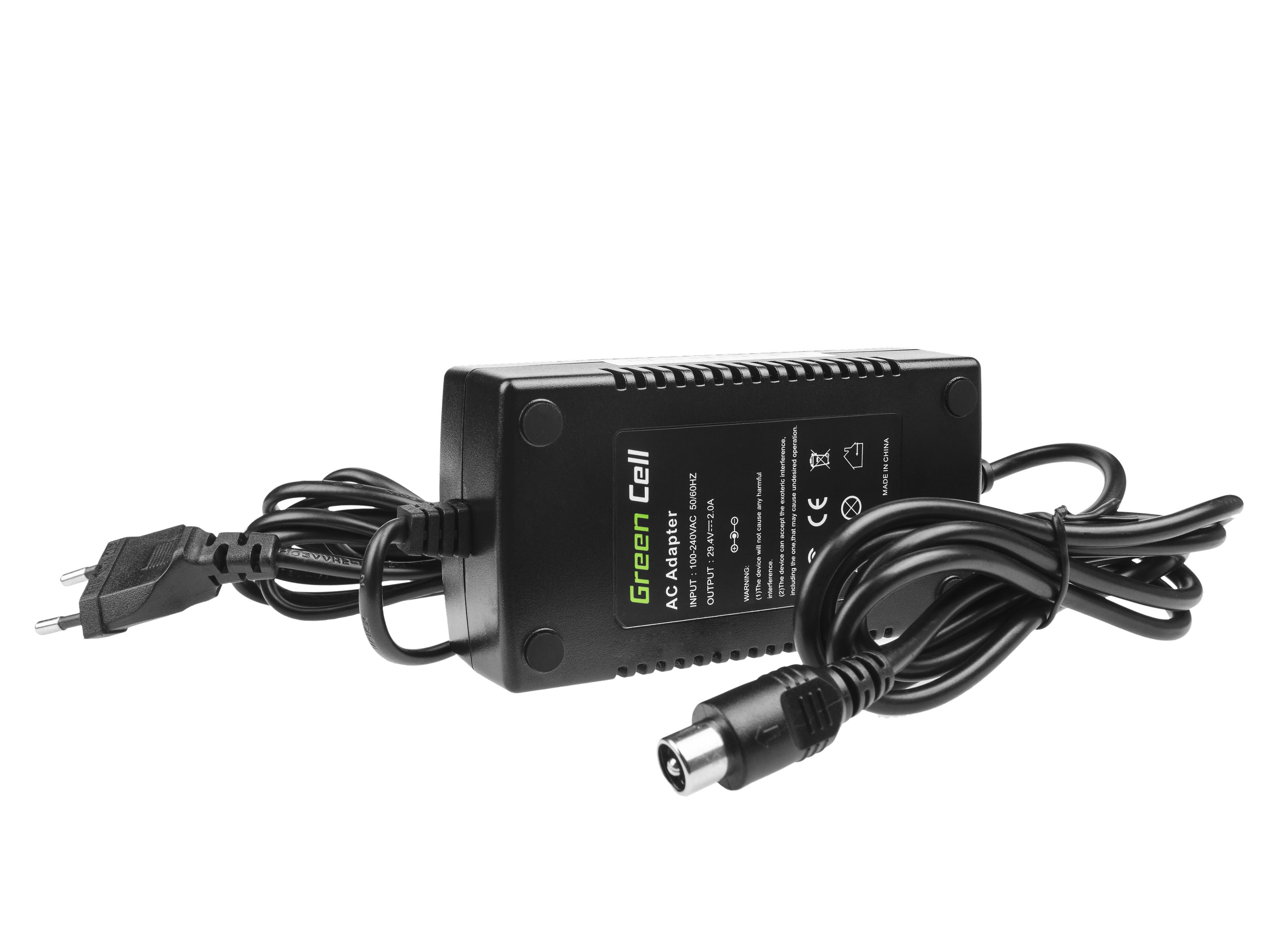 Adaptér GC 29.4V 2A (RCA) pro Baterie - elektrokola EBIKE 24V