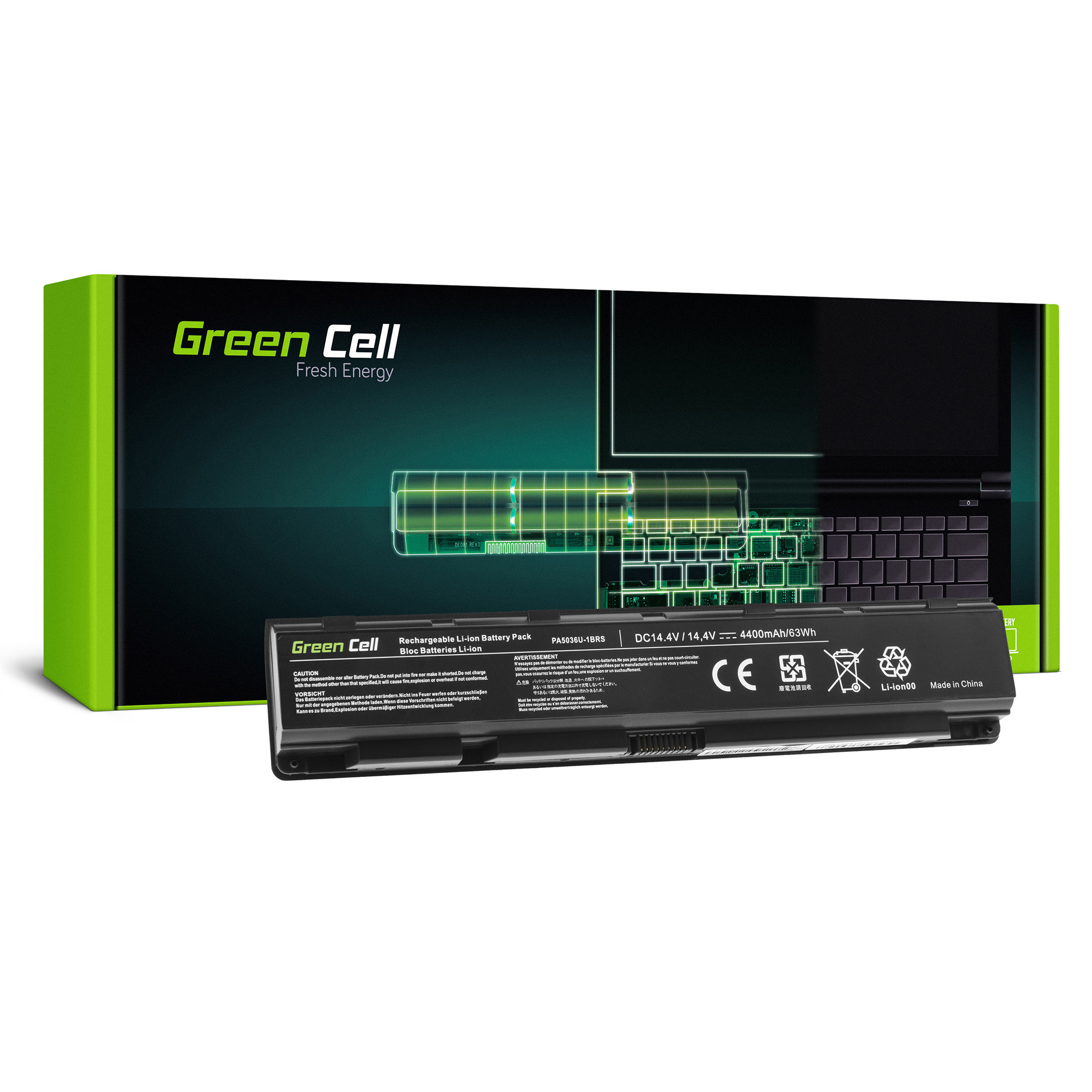 Green Cell TS64 Baterie Toshiba PA5036U-1BRS PABAS264 Toshiba Qosmio X70 X70-A X75 X870 X875 4400mAh Li-ion - neoriginální