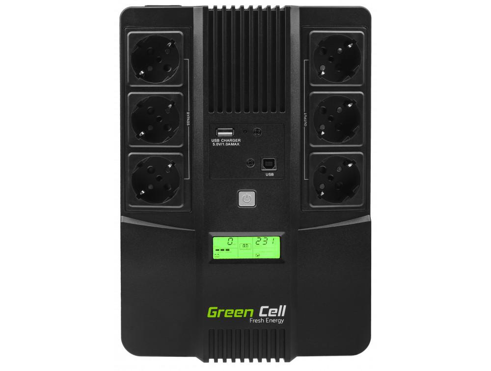 Green Cell UPS 800VA LCD AiO 480W
