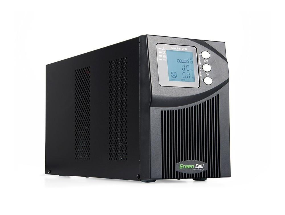 Green Cell ® UPS Online MPII 1000VA 900W LCD