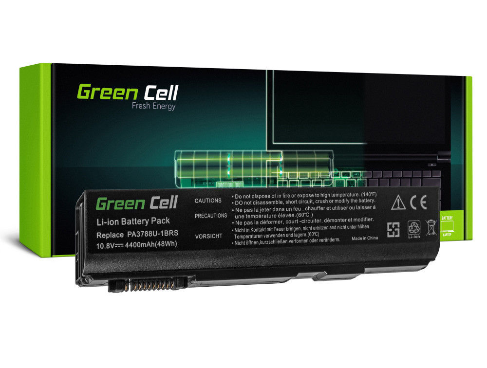 Green Cell akkumulátor Toshiba Dynabook Satellite L35 L40 L45 K40 B550 Tecra M11 A11 S11 S500 / 11,1V 4400mAh