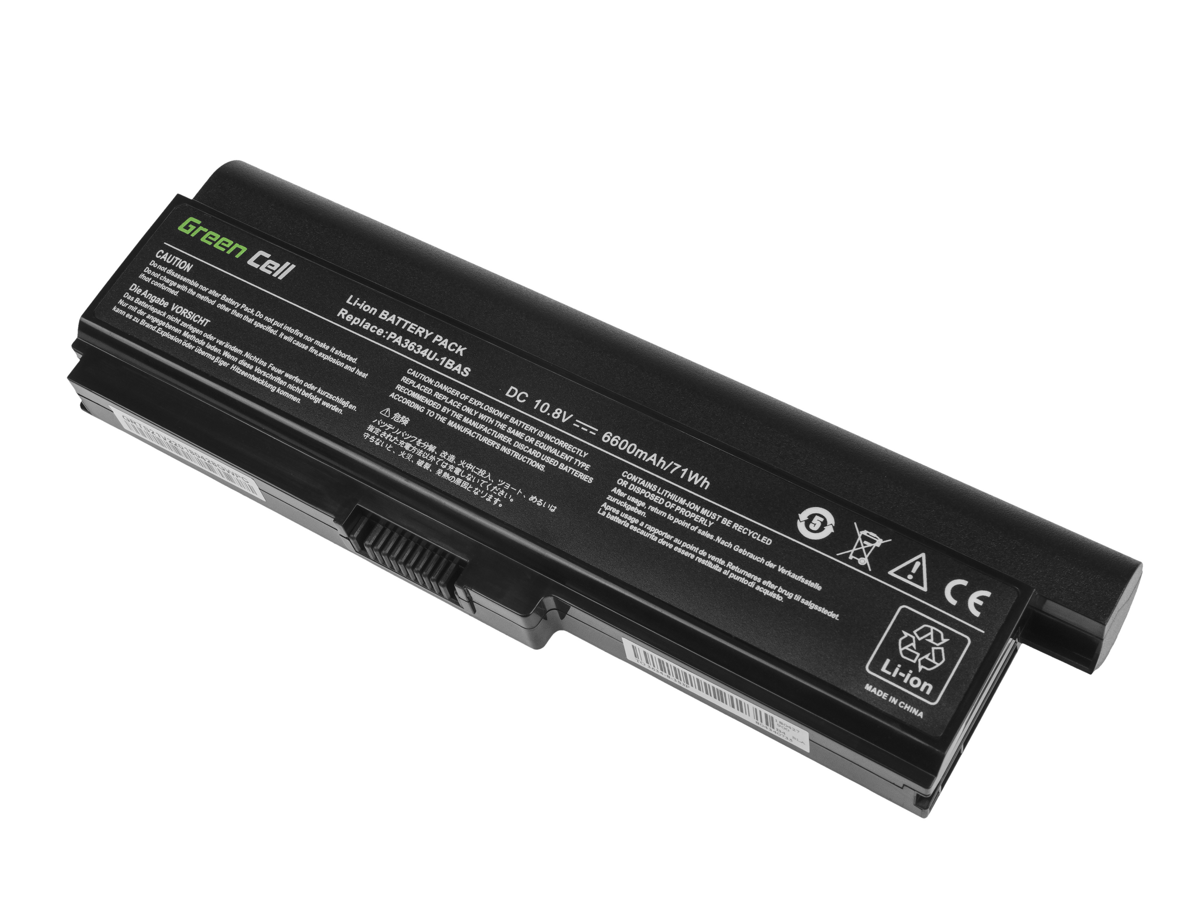 Green Cell TS21V2 Baterie Toshiba Satellite A660 A665 L650 L650D L655 L670 L670D L675 M300 M500 U400 U500 6600mAh Li-ion - neoriginální