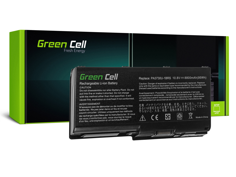 Green Cell Battery for Toshiba Qosmio X500 X505 Satellite P500 P505 P505D / 11,1V 8800mAh