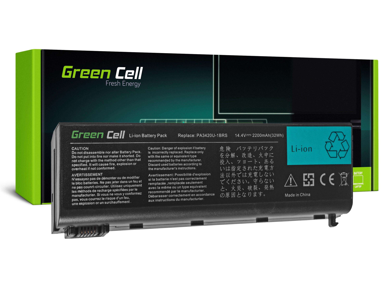Green Cell TS36 Baterie Toshiba Equium L10 L20 L30 L100, Satellite L10 L15 L20 L25 L30 L35 L100 2200mAh Li-ion - neoriginální