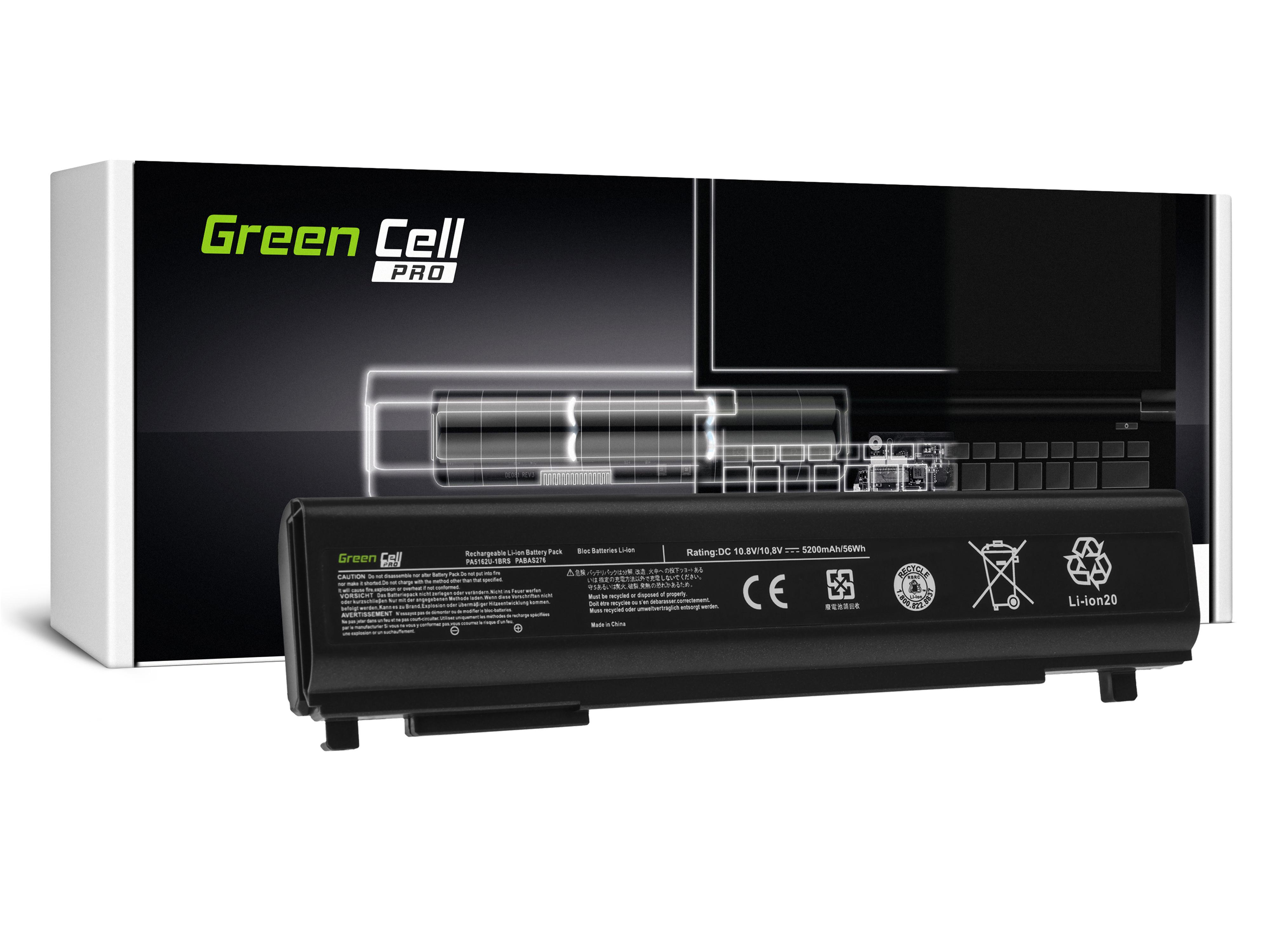 Green Cell TS39PRO Baterie PA5162U-1BRS,Toshiba Portege R30 R30-A R30-A-134 R30-A-14K R30-A-17K R30-A-15D R30-A-1C5 5200mAh Li-ion - neoriginální