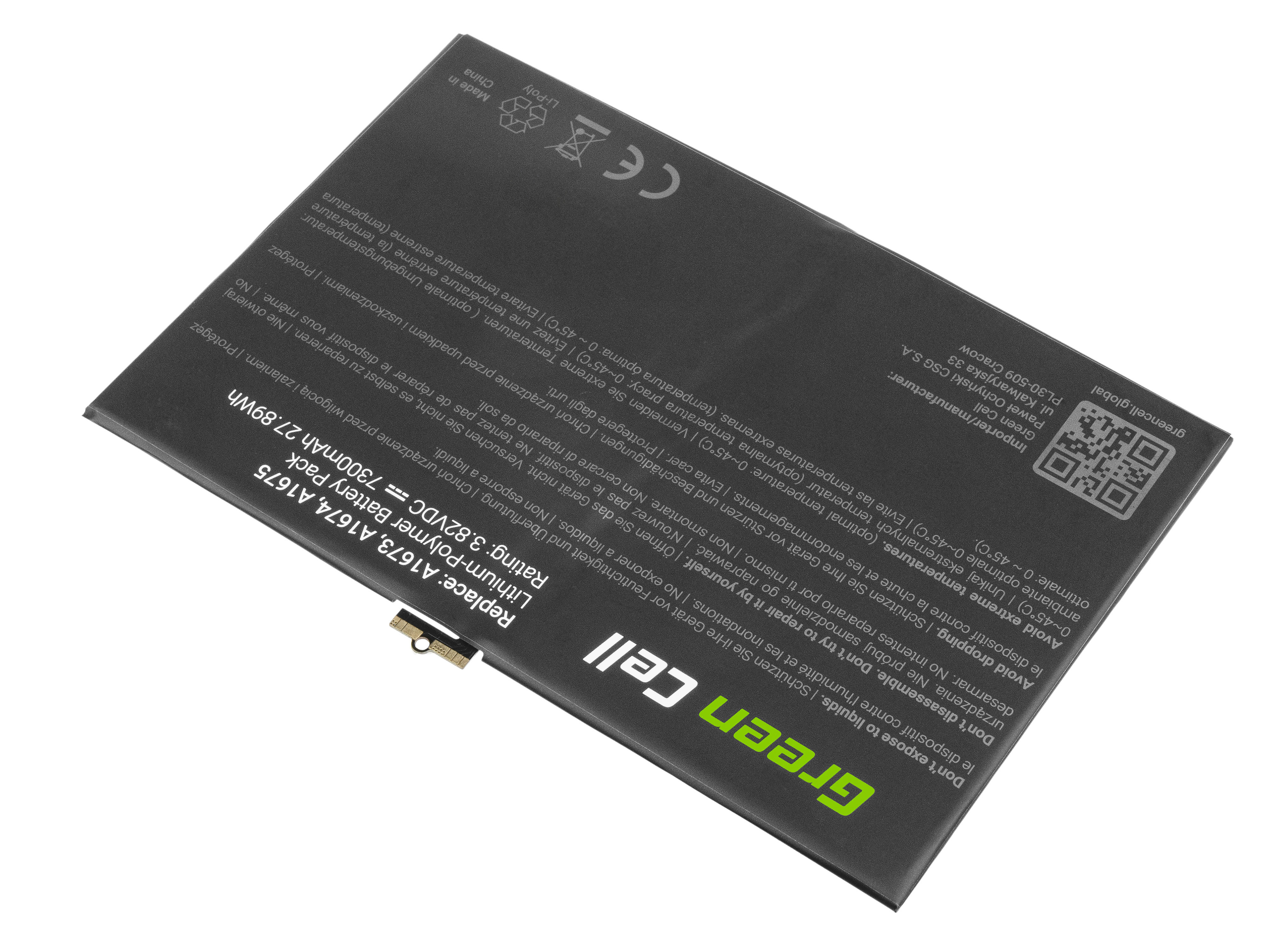 Green Cell TAB21 Baterie Apple A1664 pro Apple iPad Pro 9.7 A1673 A1674 A1675 7300mAh Li-Pol – neoriginální