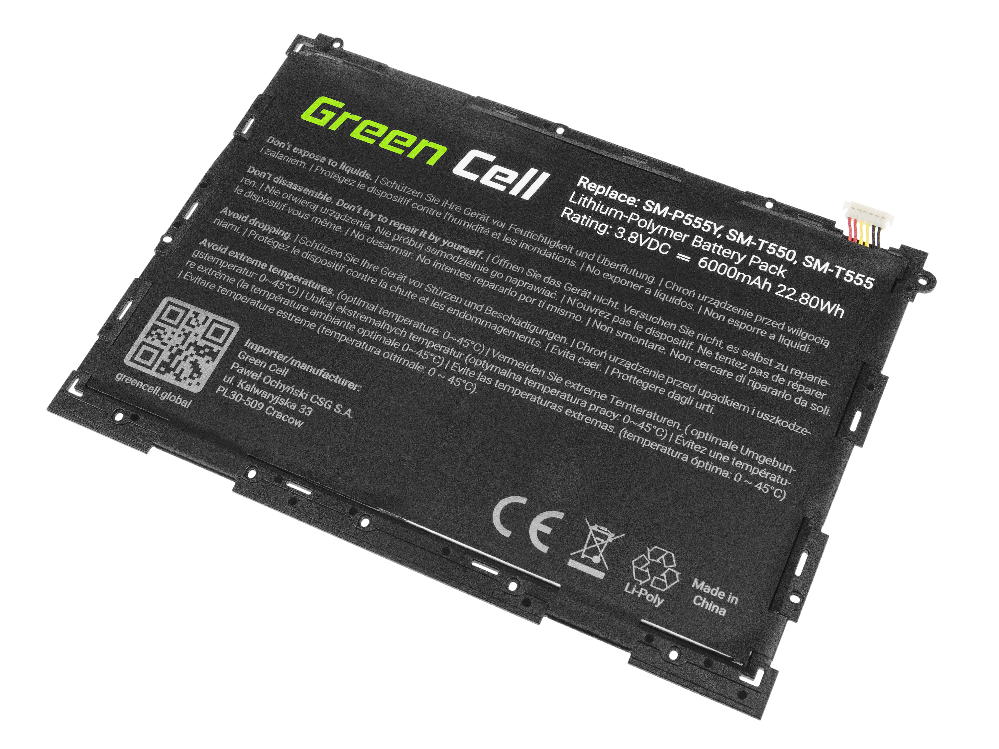 Green Cell Tablet Baterie EB-BT550ABE Samsung Galaxy Tab A 9.7 T550 T555