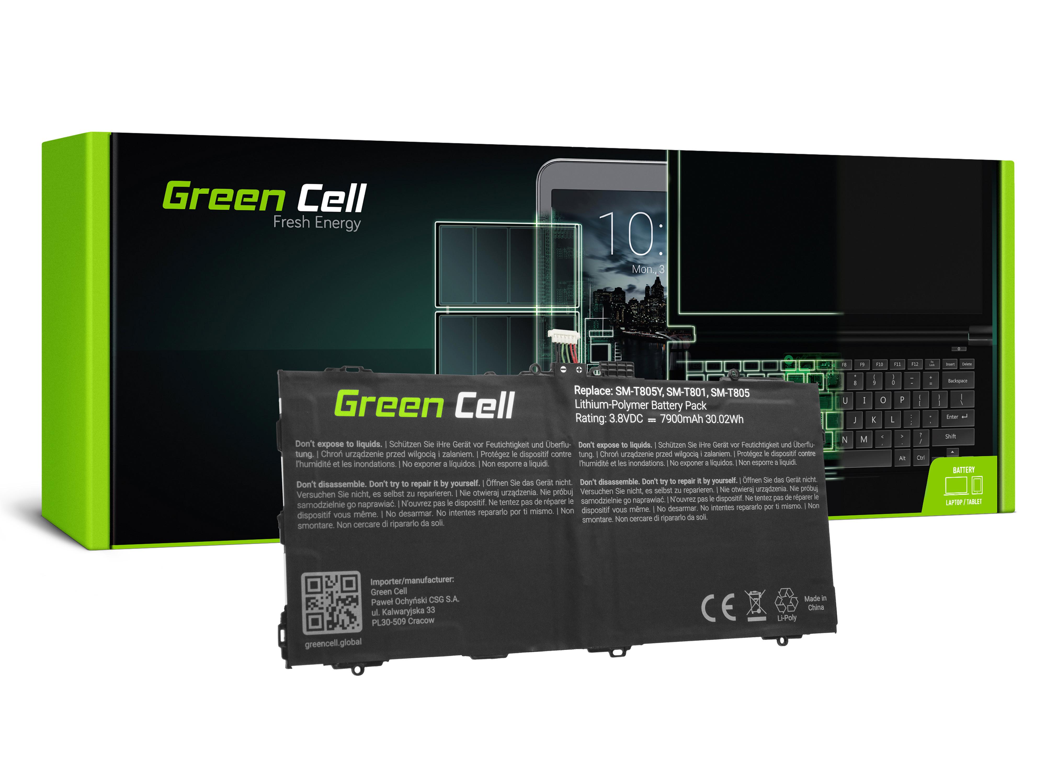 Green Cell Tablet Baterie EB-BT800FBE EB-BT800FBU Samsung Galaxy Tab S 10.5 T800 T805