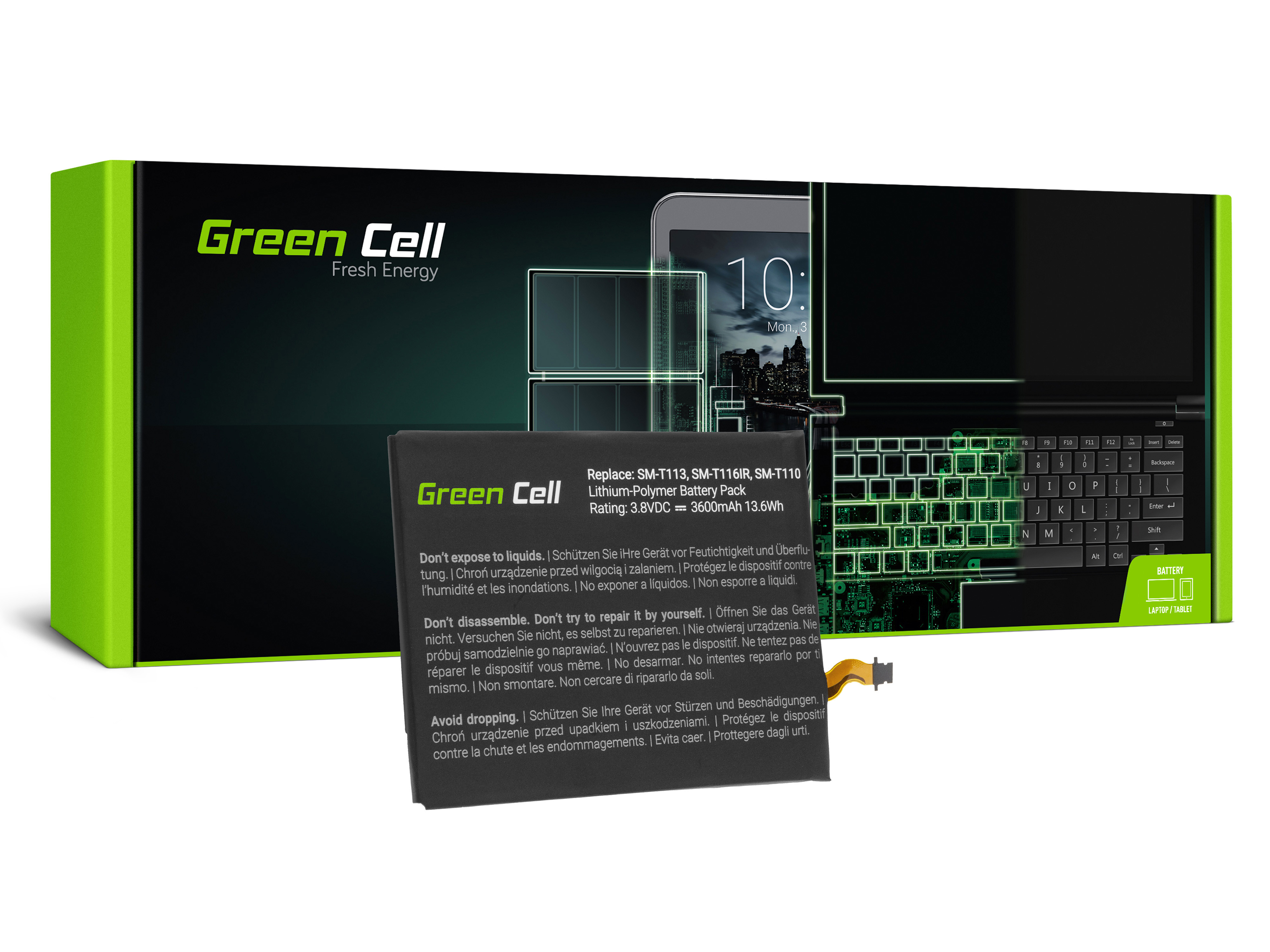 Green Cell Tablet Baterie EB-BT111ABE EB-BT115ABC Samsung Galaxy Tab 3 Lite T110 T113 T116 Neo T111