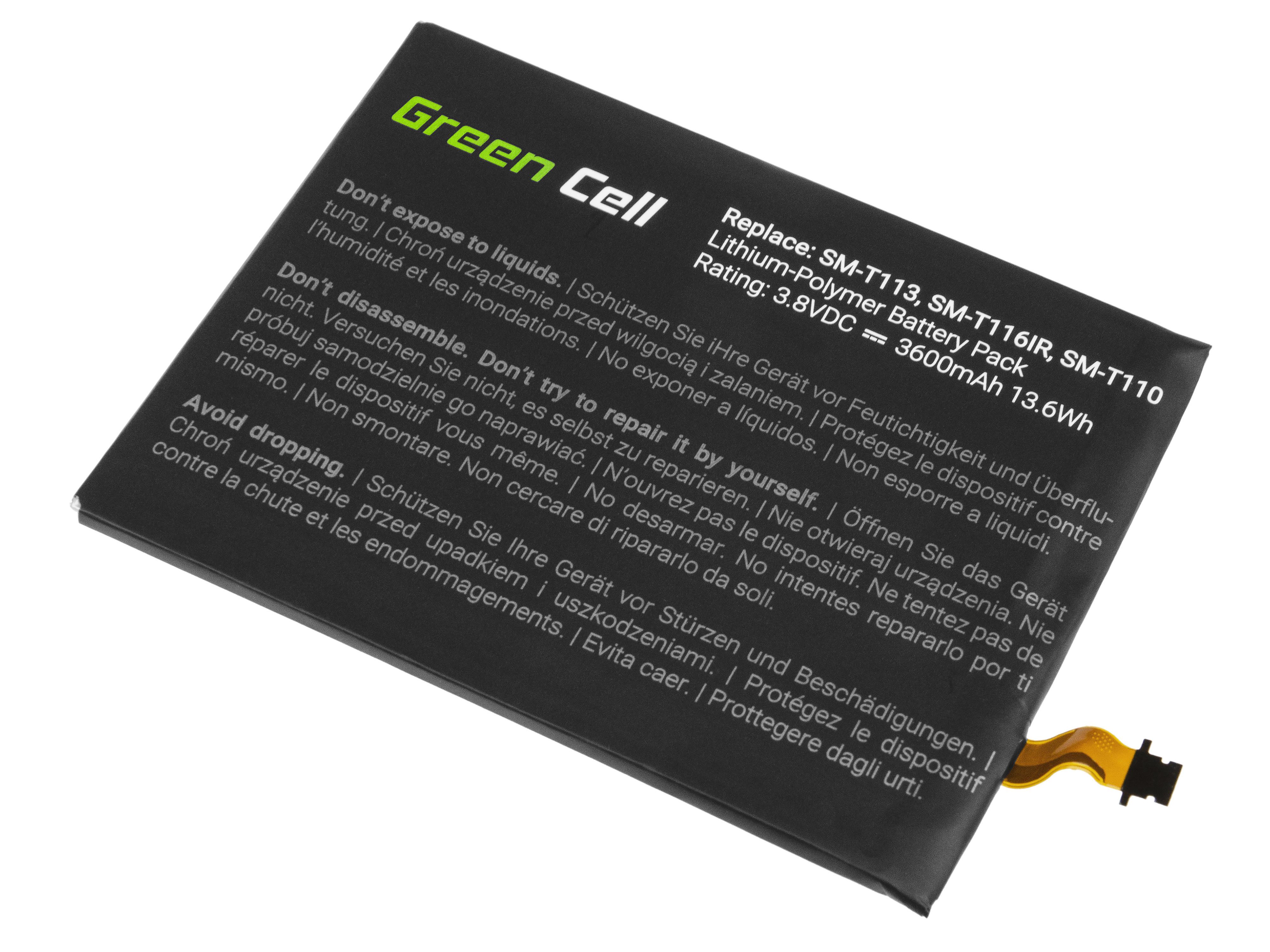 Green Cell Tablet Battery EB-BT111ABE EB-BT115ABC Samsung Galaxy Tab 3 Lite T110 T113 T116 Neo T111
