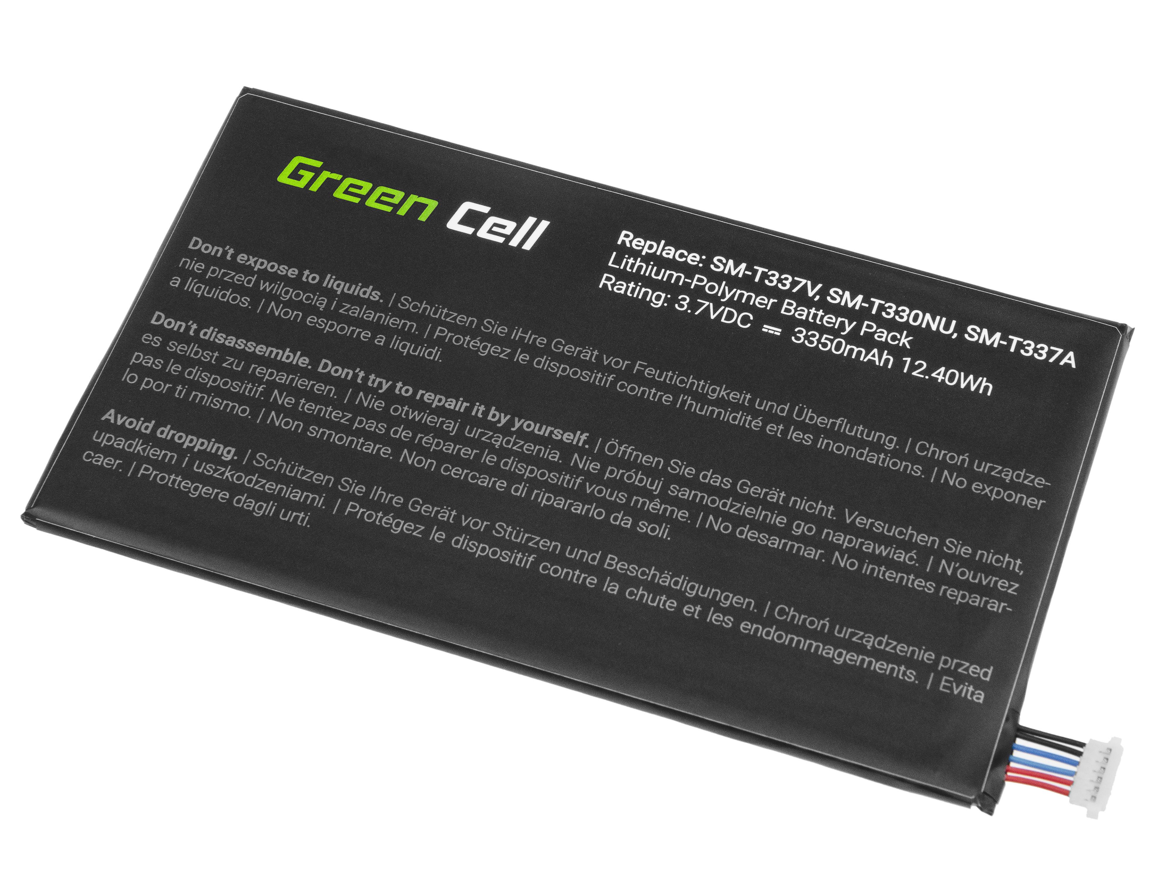 Green Cell TAB43 Baterie Samsung EB-BT330FBU pro Samsung Galaxy Tab 4 8.0 T330 T331 T337 3350mAh Li-Pol – neoriginální