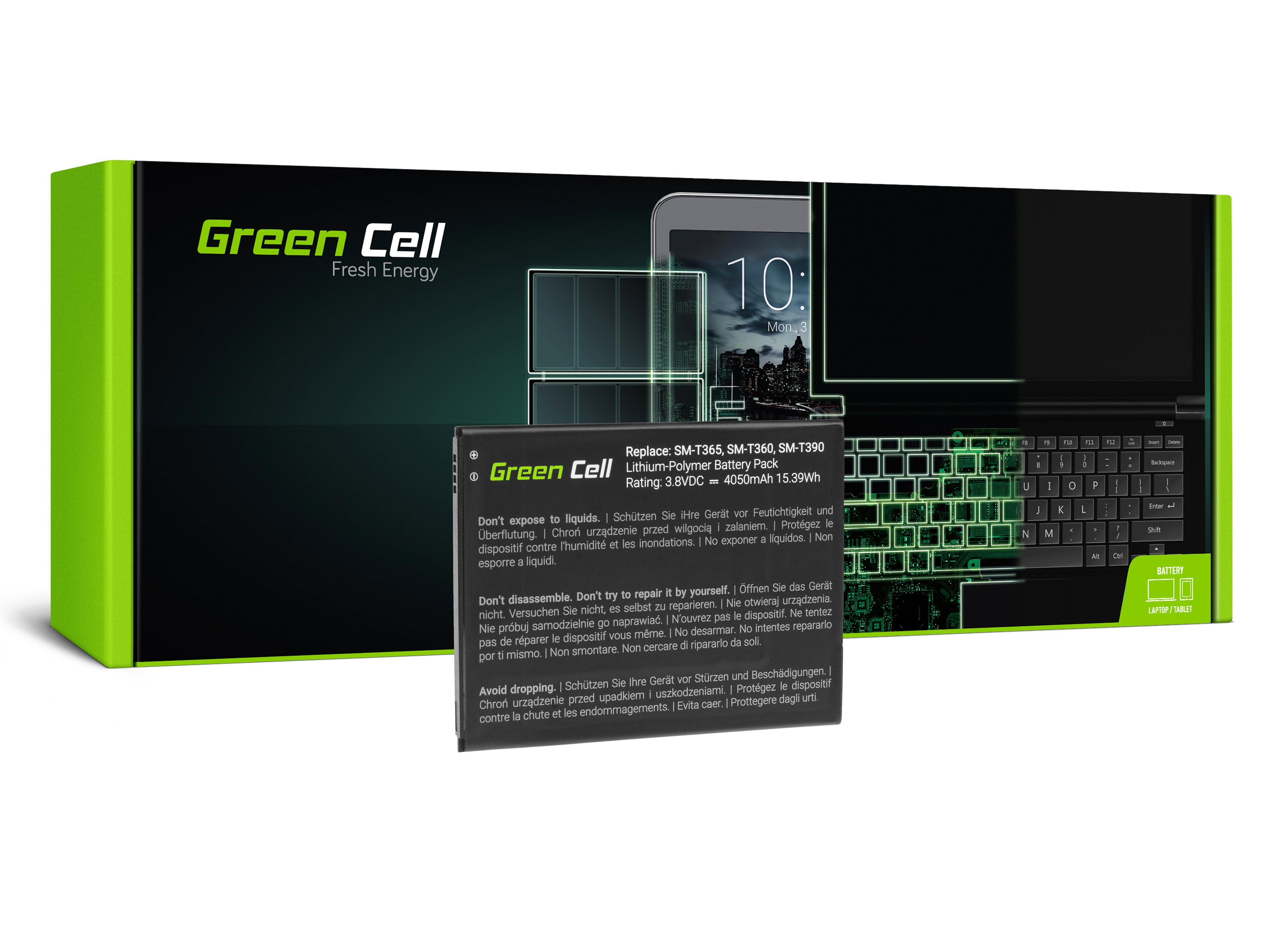 Green Cell TAB44 Baterie Samsung EB-BT365BBU pro Samsung Galaxy Tab Active 8.0 T360 T365 4050mAh Li-Pol – neoriginální