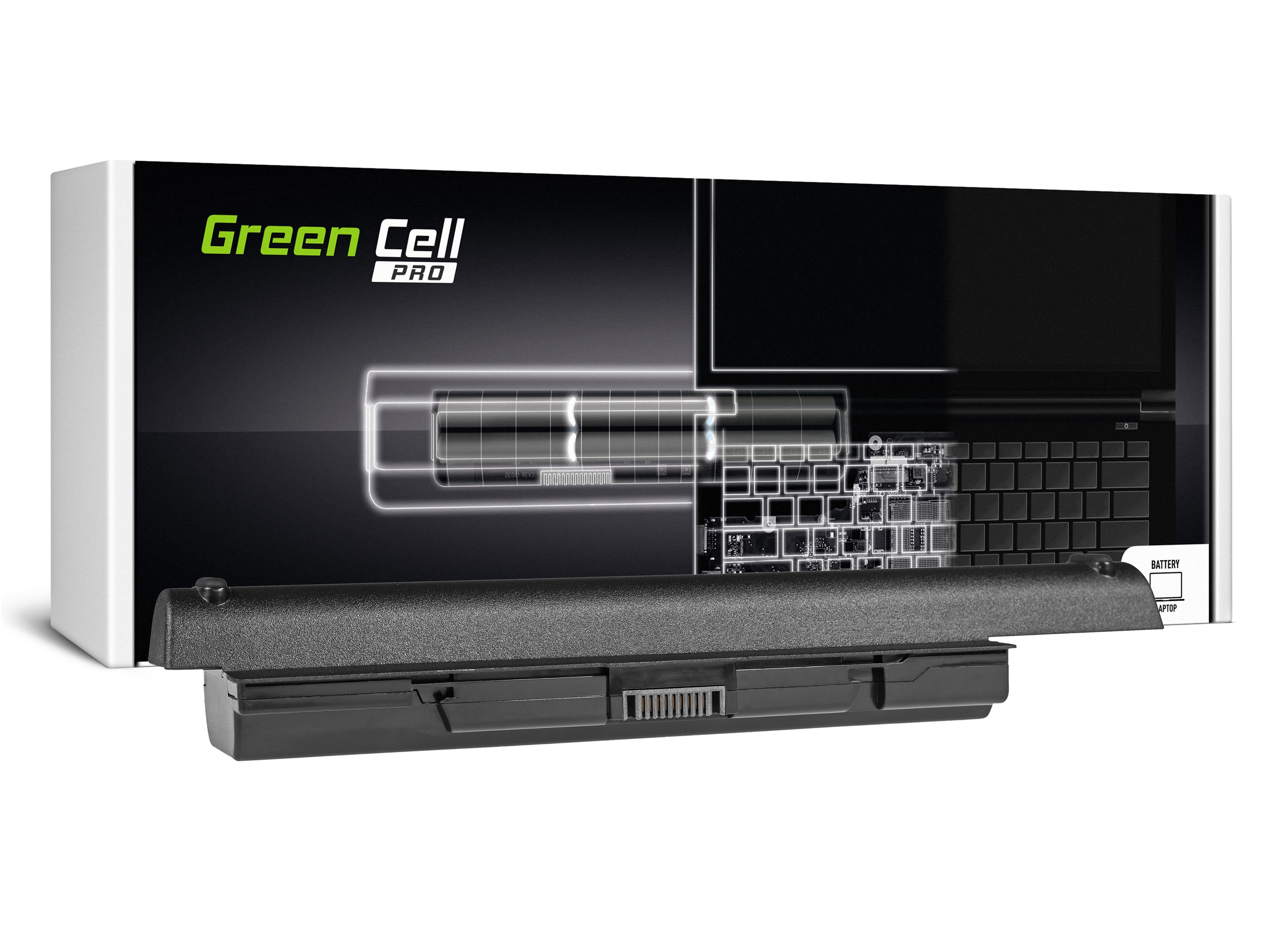 Green Cell PRO Battery for Toshiba Satellite A200 A300 A500 L200 L300 L500 / 11,1V 7800mAh