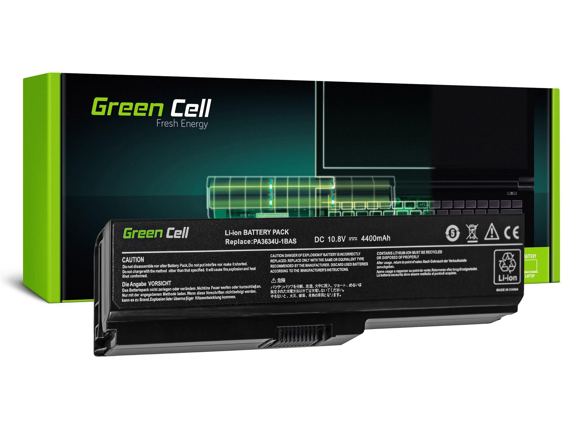 Green Cell Battery for Toshiba Satellite C650 C650D C660 C660D L650D L655 L750 PA3817U-1BRS / 11,1V 4400mAh