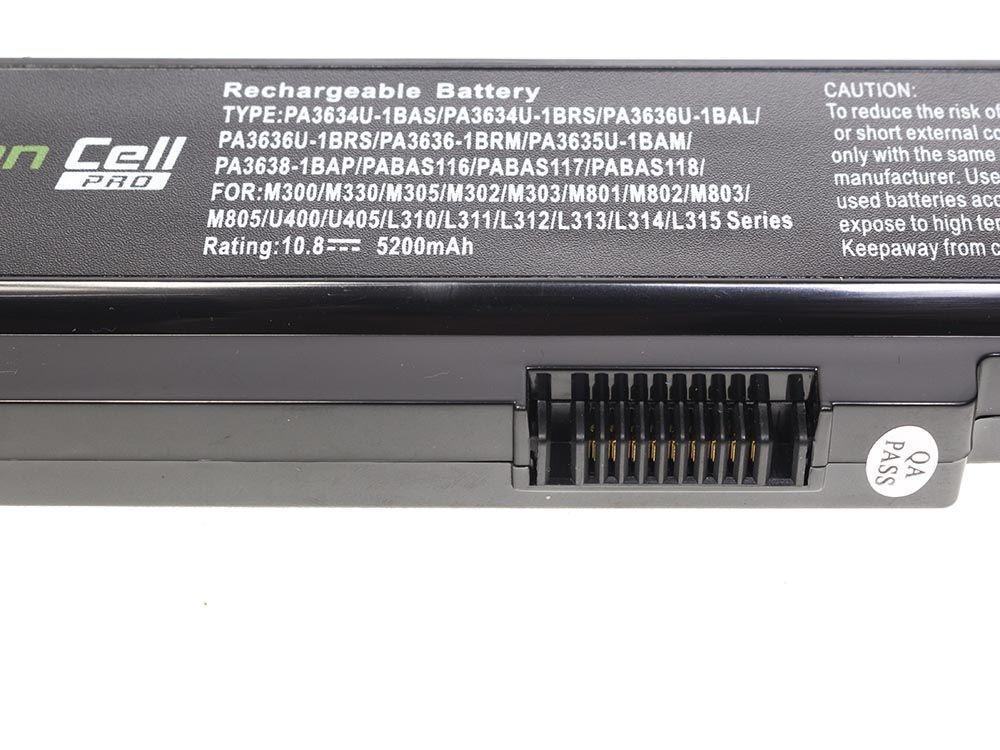 Green Cell TS03PRO Baterie Toshiba Satellite C650 C650D C660 C660D L650D L655 L750 5200mAh Li-ion - neoriginální