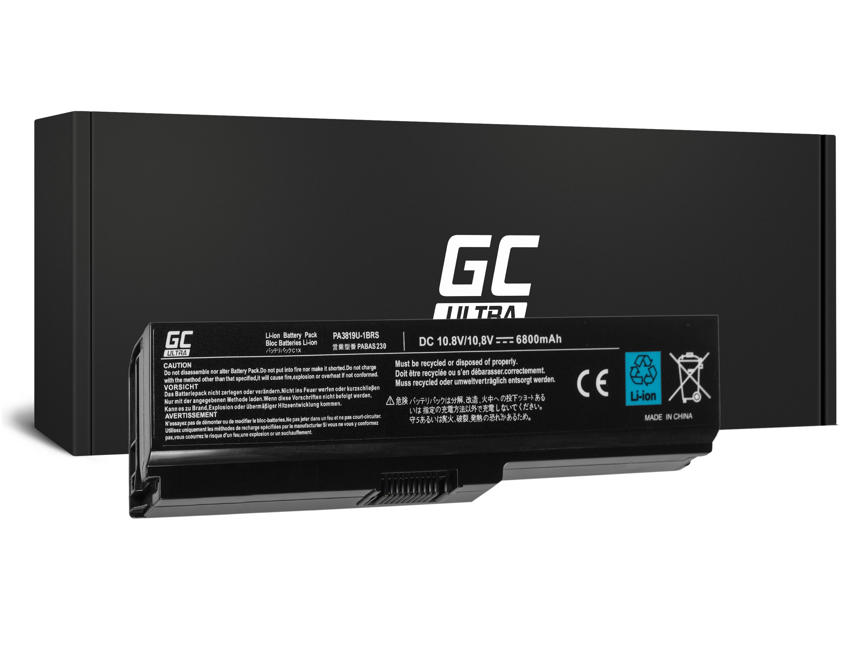 Green Cell ULTRA Battery for Toshiba Satellite C650 C650D C660 C660D L650D L655 L750 PA3817U-1BRS / 11,1V 5200mAh