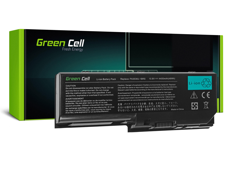 Green Cell Battery for Toshiba Satellite L350 P200 PA3536U-1BRS / 11,1V 4400mAh