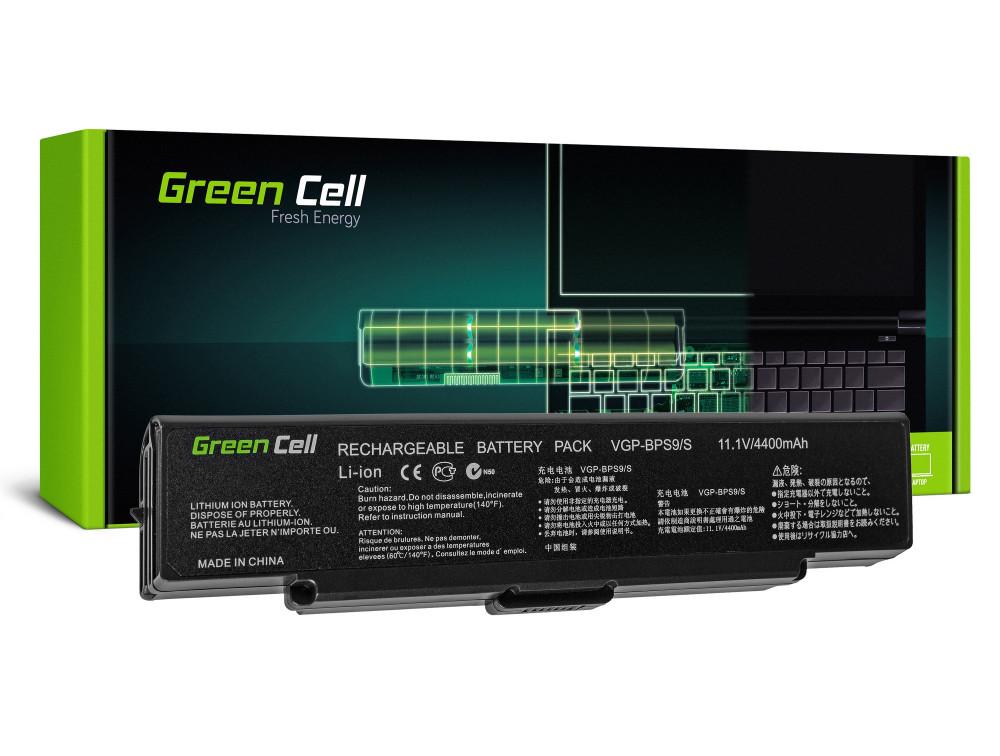 Green Cell akkumulátor Sony Vaio VGN-AR570 CTO VGN-AR670 CTO VGN-AR770 (fekete) / 11,1V 4400mAh