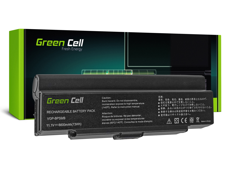 Green Cell SY10 Baterie Sony Vaio VGP-BPS9A/B VGP-BPS10 VGP-BPS9B 6600mAh Li-Ion - neoriginální