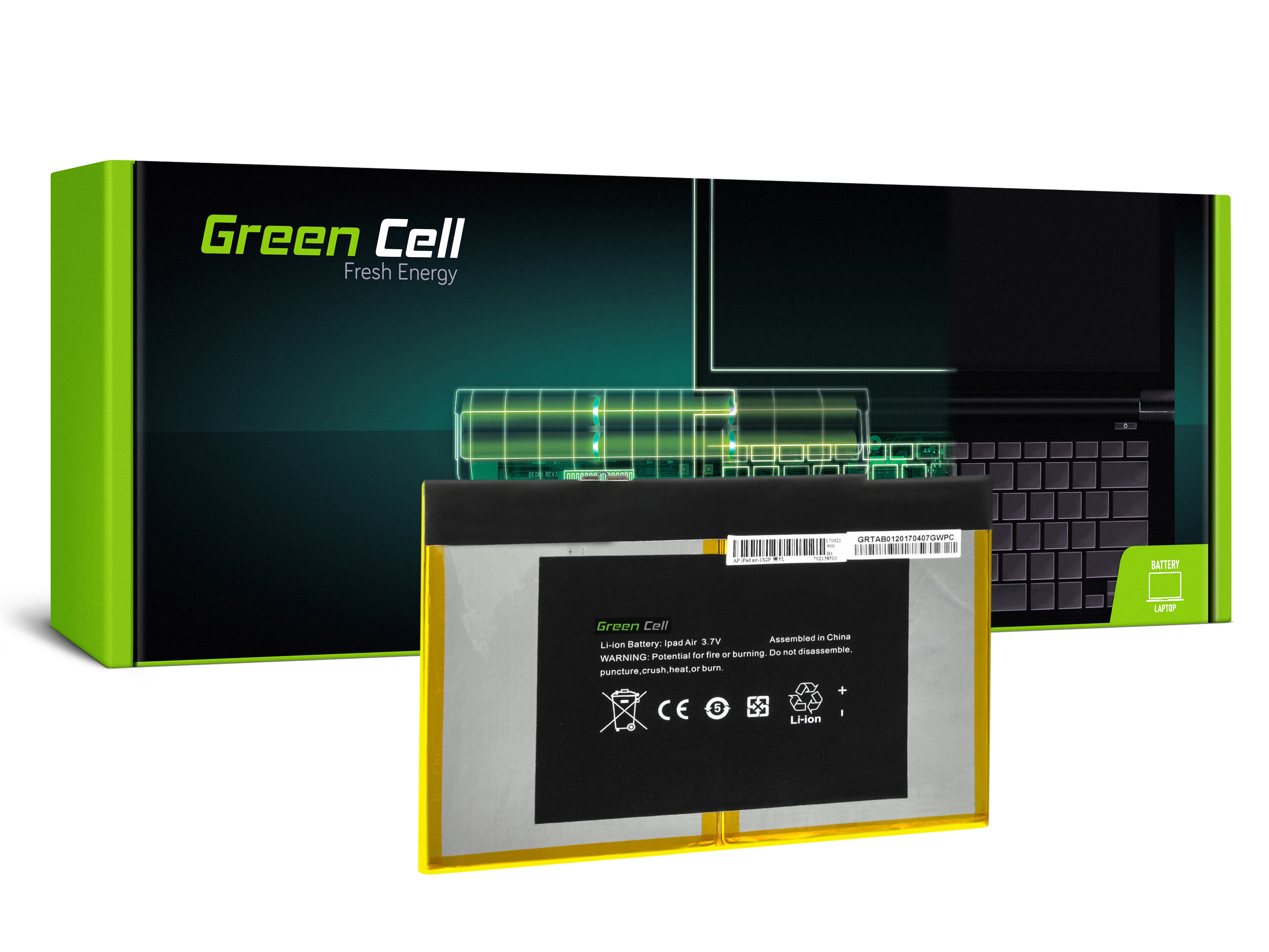 Green Cell Baterie pro Apple iPad 1 Generation A1474 A1475 A1476