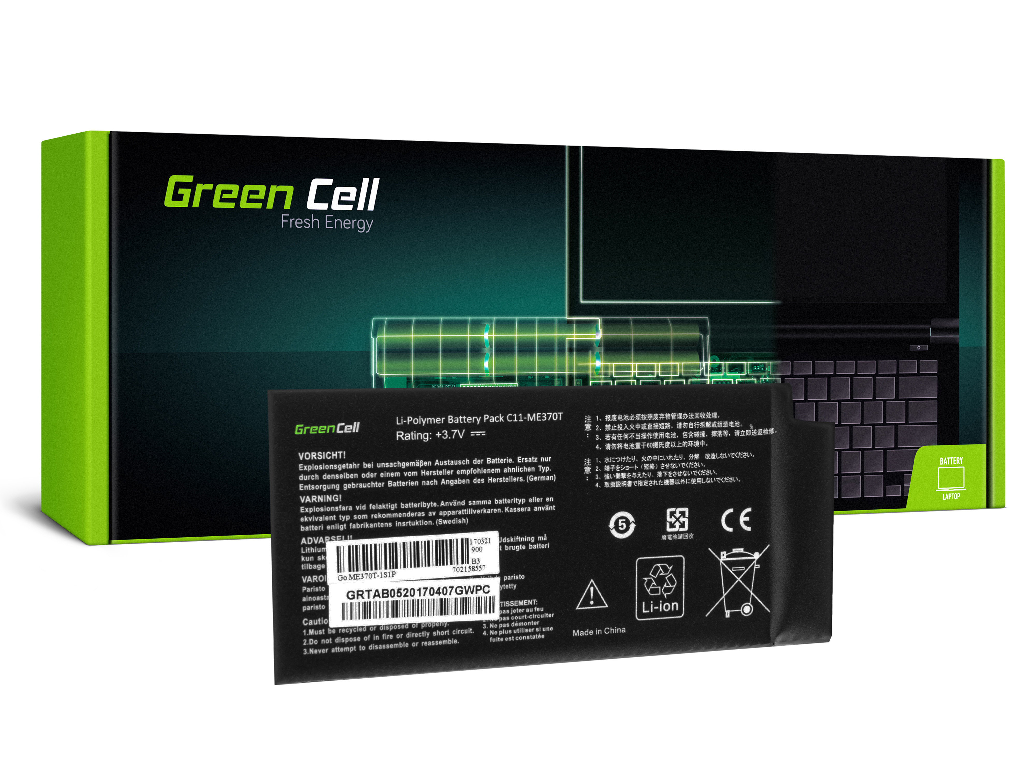 Green Cell TAB05 Baterie Asus Google C11-ME370T pro Asus Google Nexus 7 4325mAh Li-Pol – neoriginální