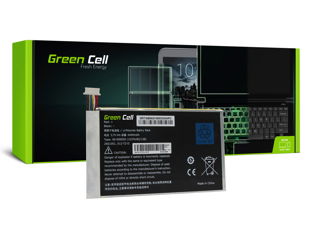 Green Cell Tablet Akkumulátor Amazon Kindle Fire HD 7 2013 3. generációs