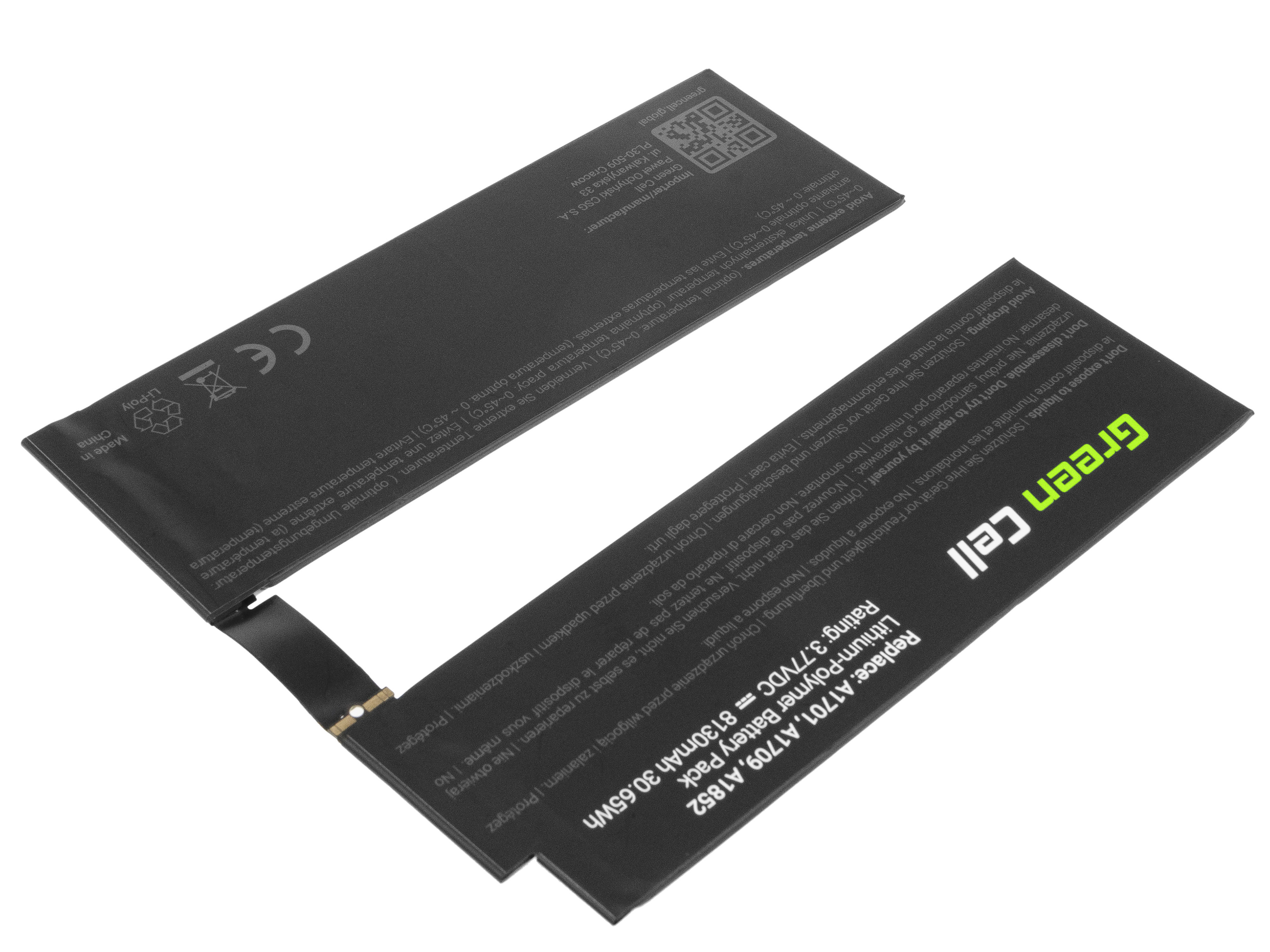 Green Cell TAB15 Baterie Apple A1798 pro Apple iPad Pro 10.5 A1701 A1709 8130mAh Li-Pol – neoriginální