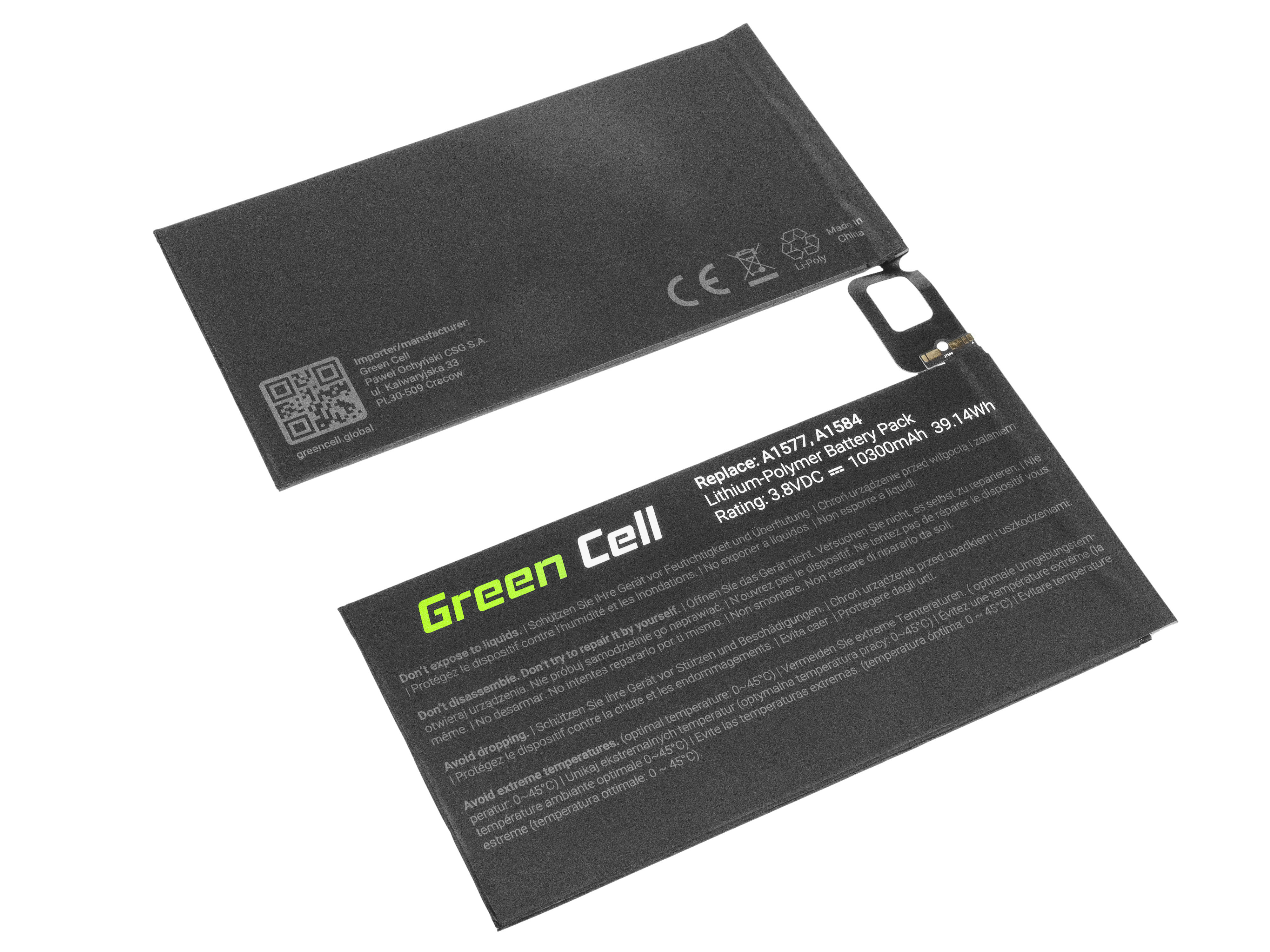 Green Cell Tablet Battery A1577 Apple iPad Pro 12.9 A1584 A1652