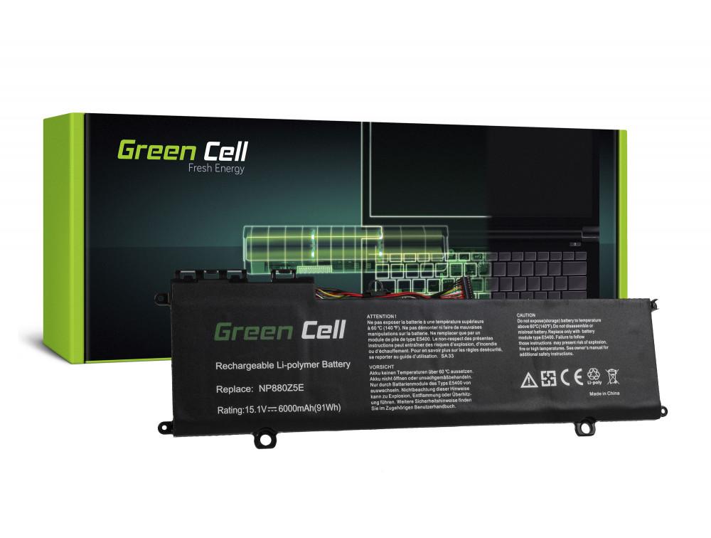Green Cell akkumulátor Samsung NP770Z5E NP780Z5E Ativ Book 8 NP870Z5E NP870Z5G NP880Z5E / 15,1V 6000mAh