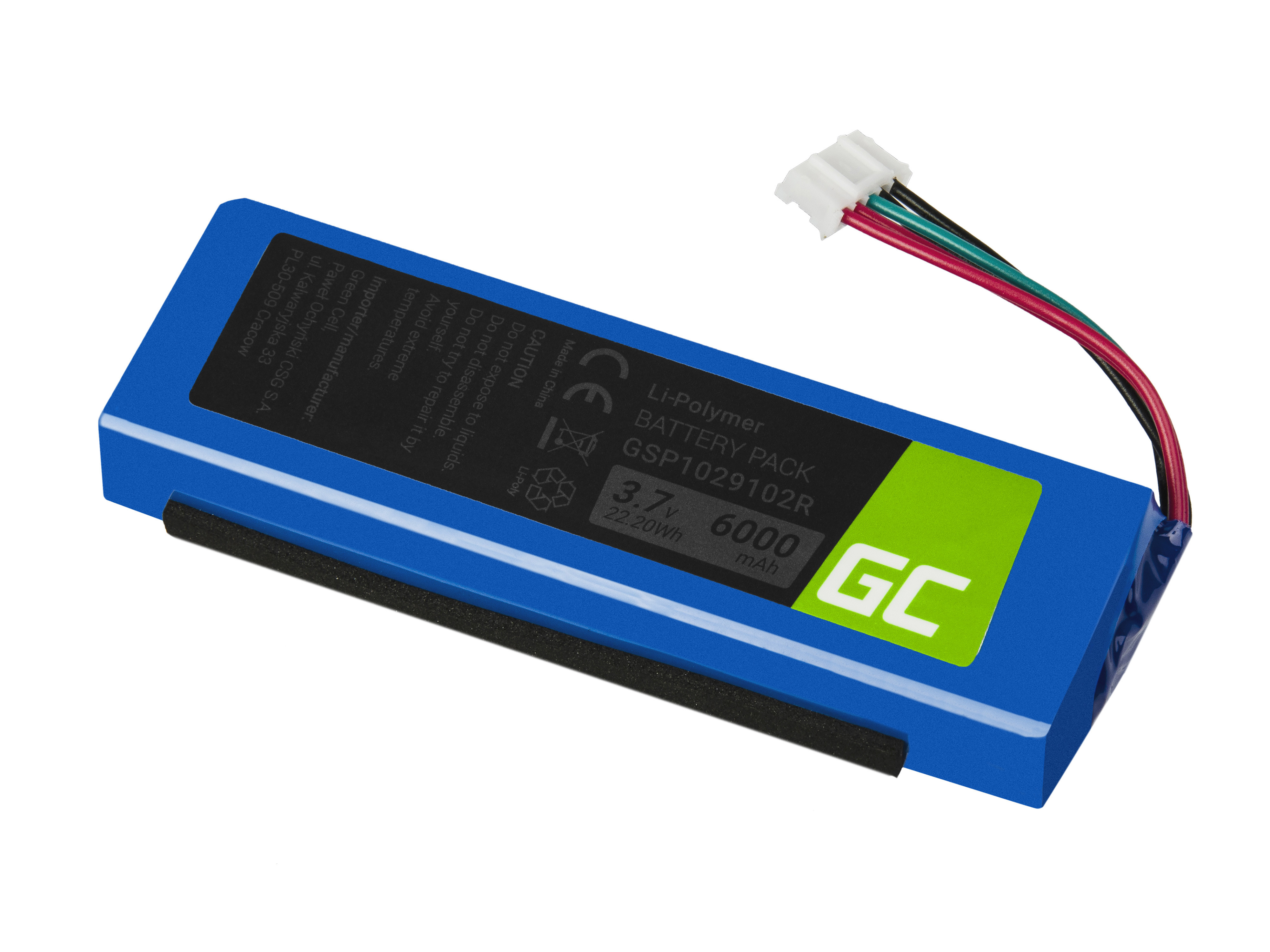 Green Cell Speaker Battery for JBL Charge 2, 2+, 3