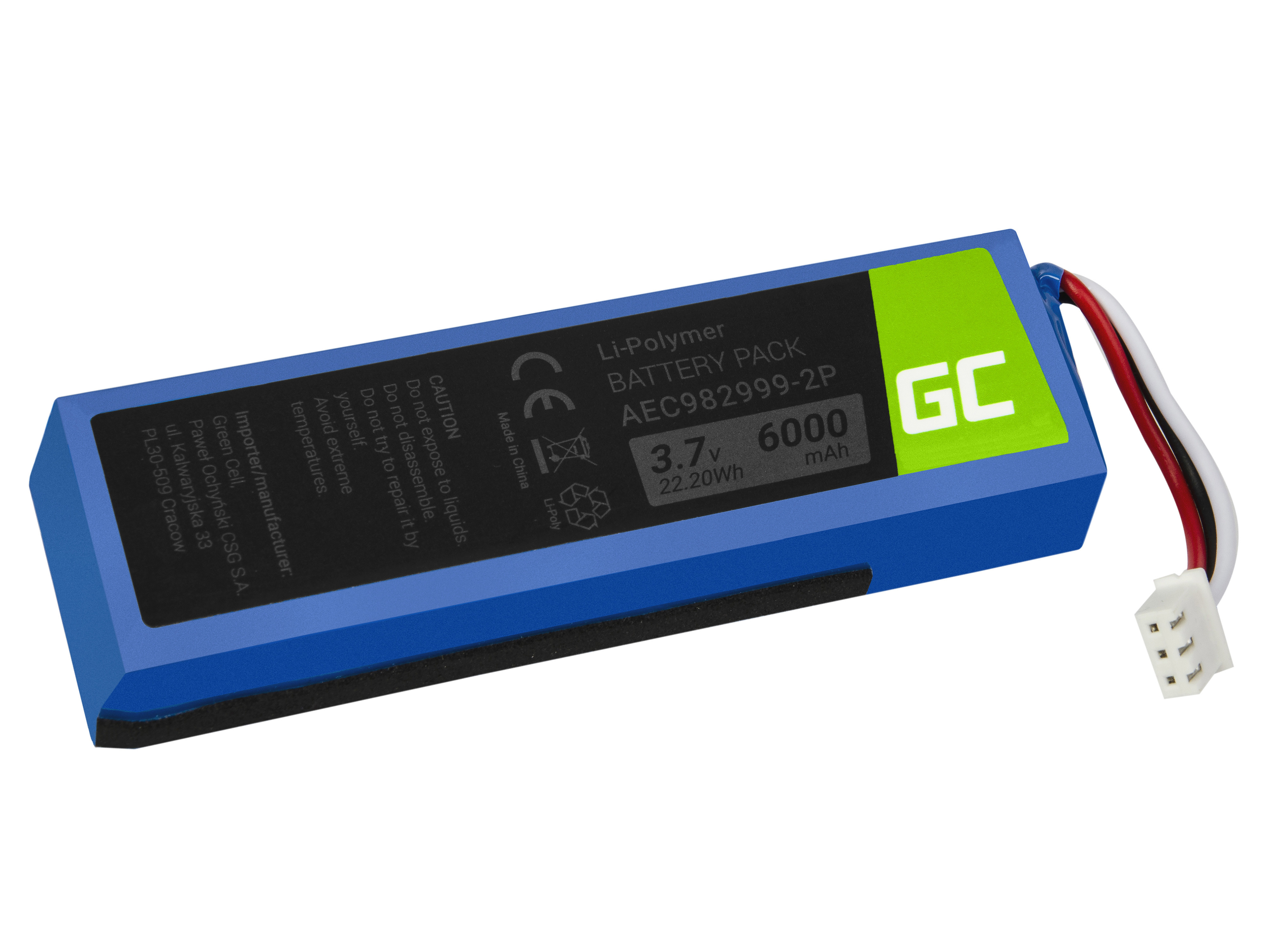 Green Cell AEC982999-2P Speaker Battery for JBL Charge