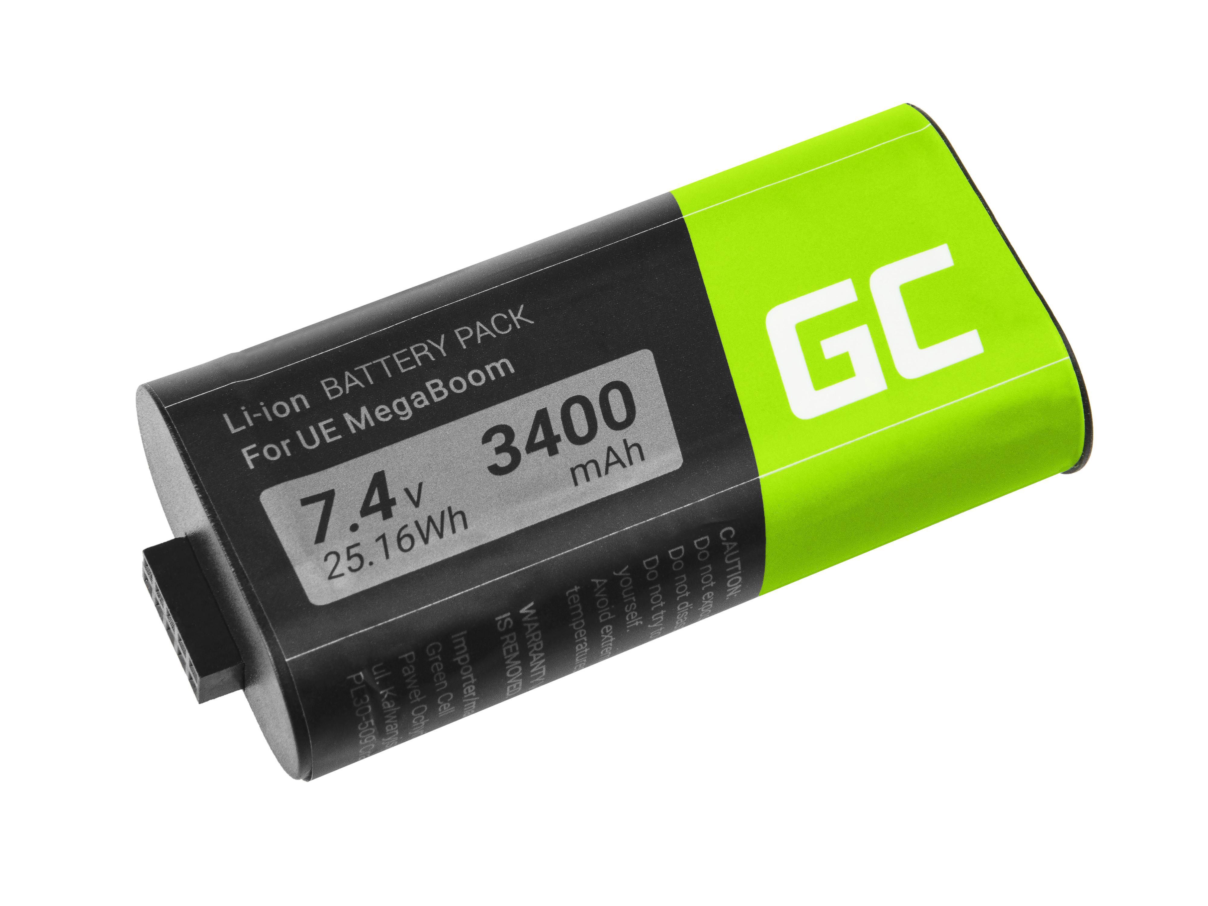 Green Cell Speaker Battery 533-000116 533-000138 for Logitech Ultimate Ears UE MEGABOOM S-00147