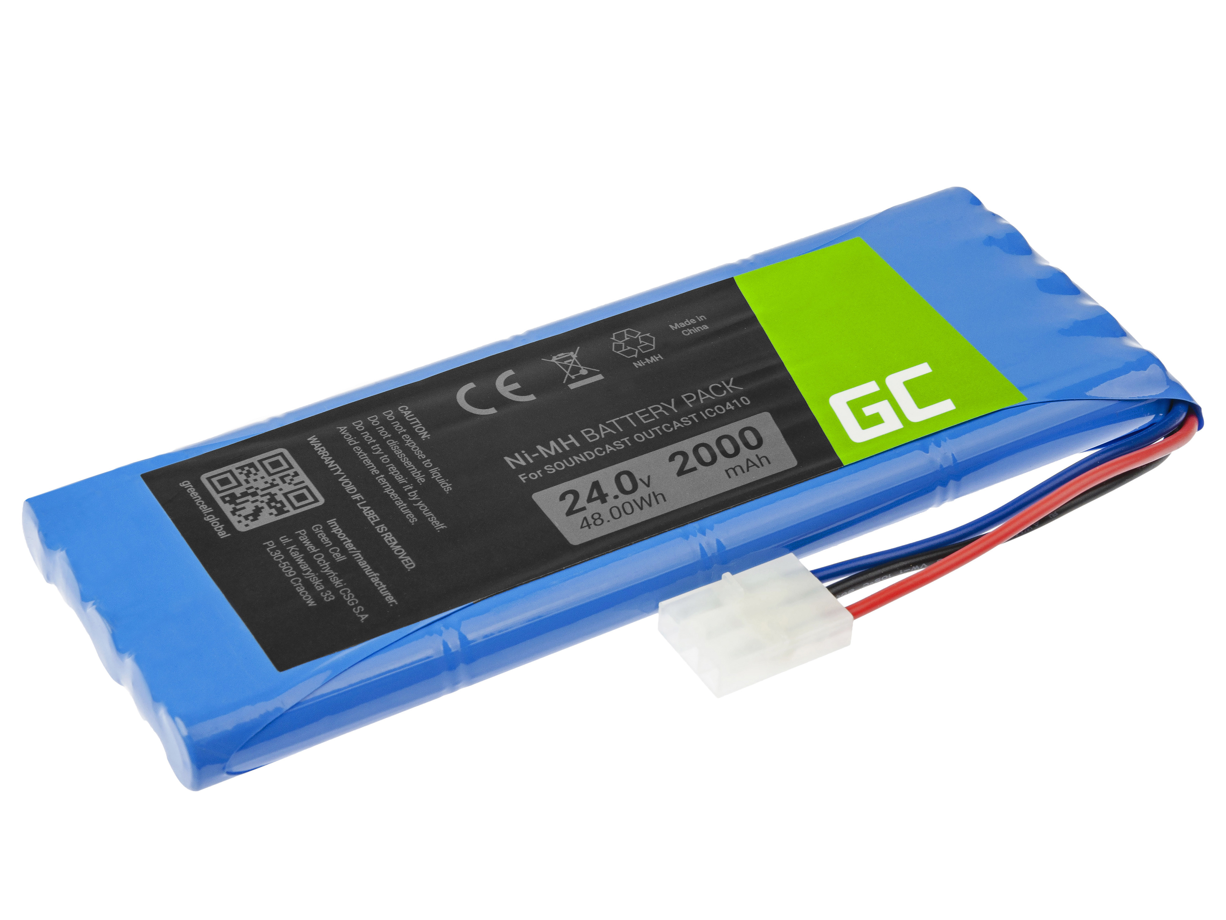 Green Cell Speaker Battery 20S-1P for Soundcast Outcast ICO410 ICO411a