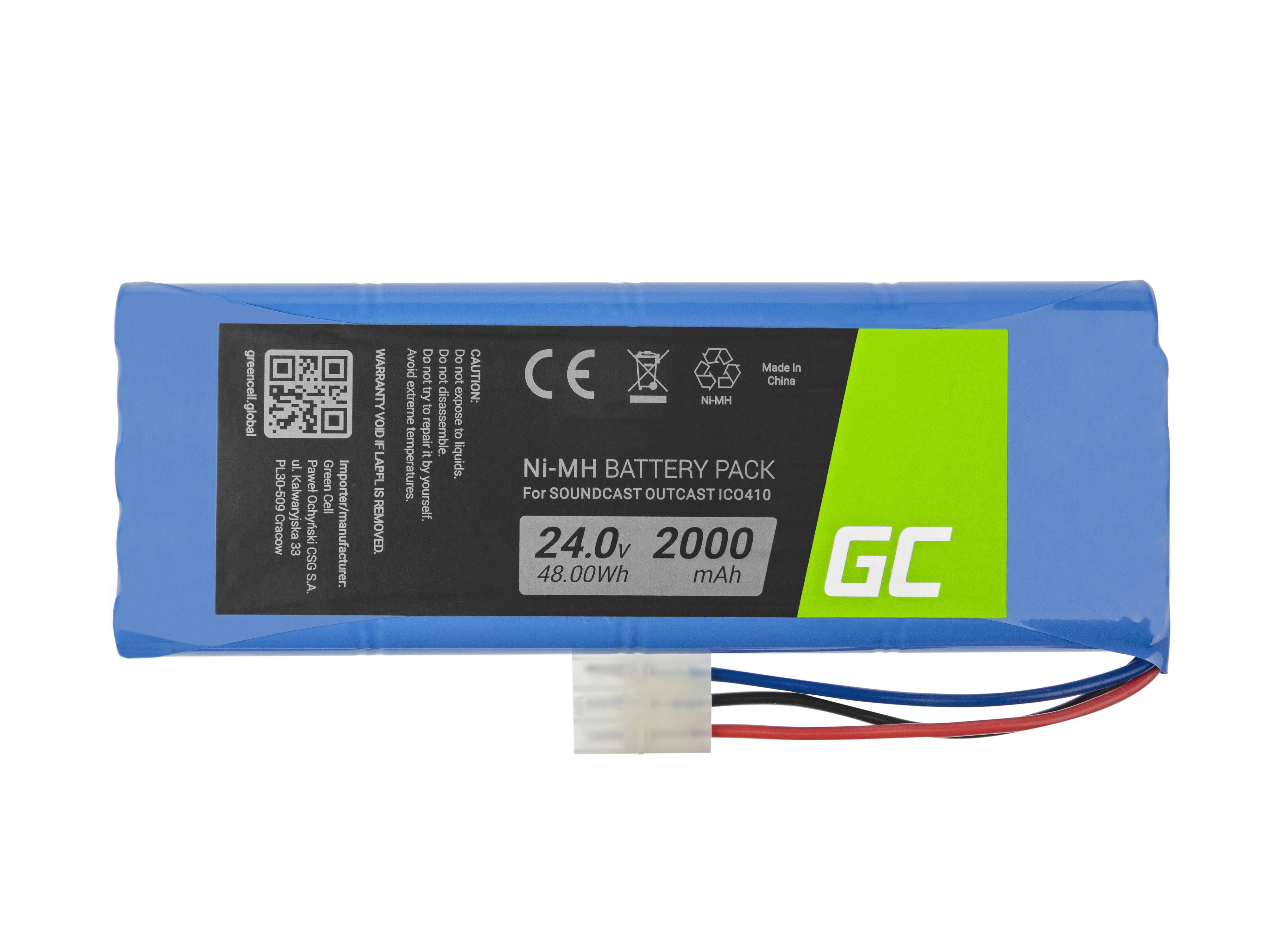 Green Cell SP16 Baterie Soundcast Outcast 20S-1P ICO410 ICO411a 2000mAh Ni-MH – neoriginální