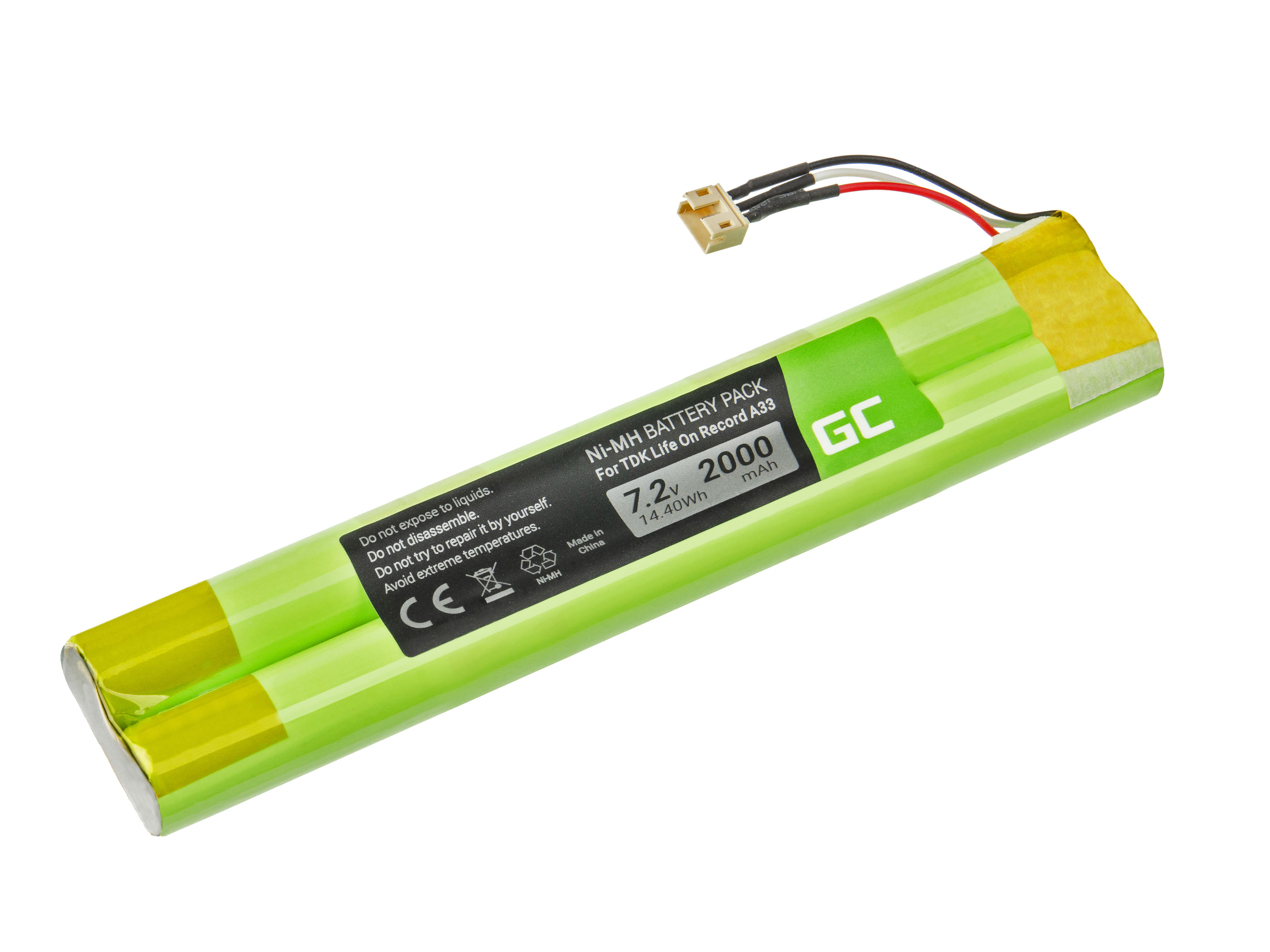 Green Cell SP17 Baterie EU-BT00003000-B TDK Life On Record A33 A34 TREK Max 2000mAh Ni-MH – neoriginální
