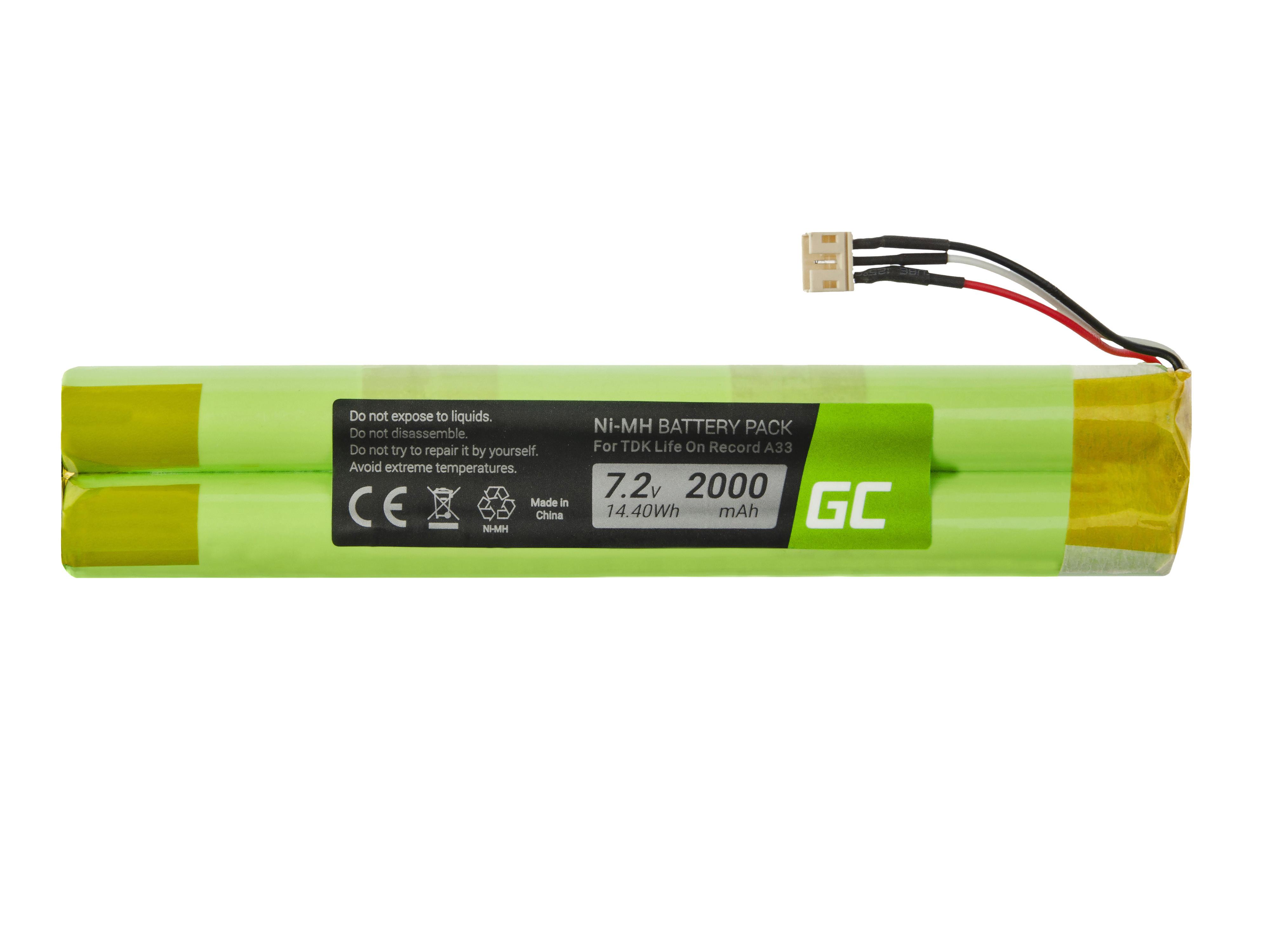 Green Cell SP17 Baterie EU-BT00003000-B TDK Life On Record A33 A34 TREK Max 2000mAh Ni-MH – neoriginální