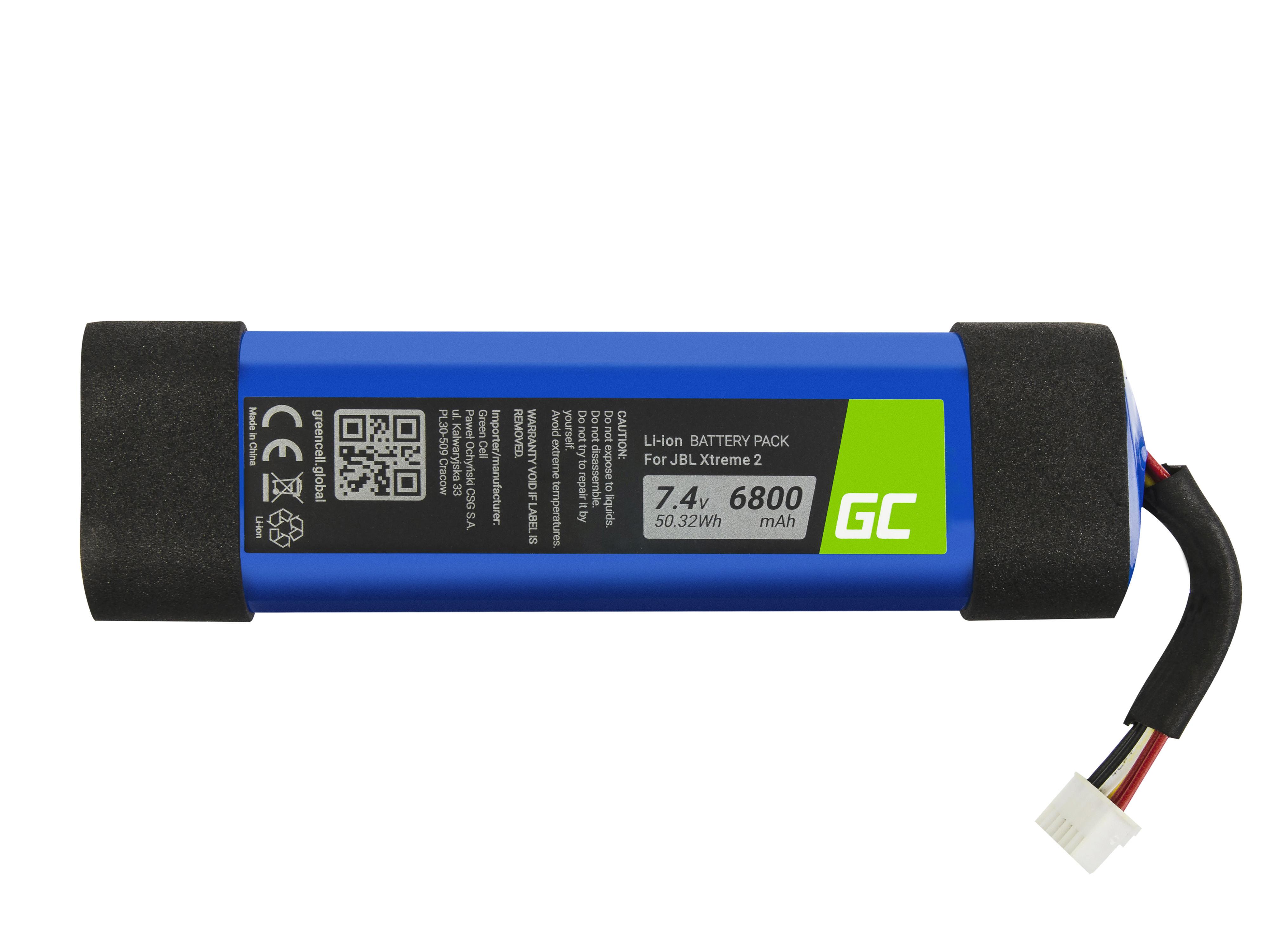 Baterie Green Cell pro JBL 2INR19/66-2,JBL Xtreme 2 6800mAh Li-Ion – neoriginální